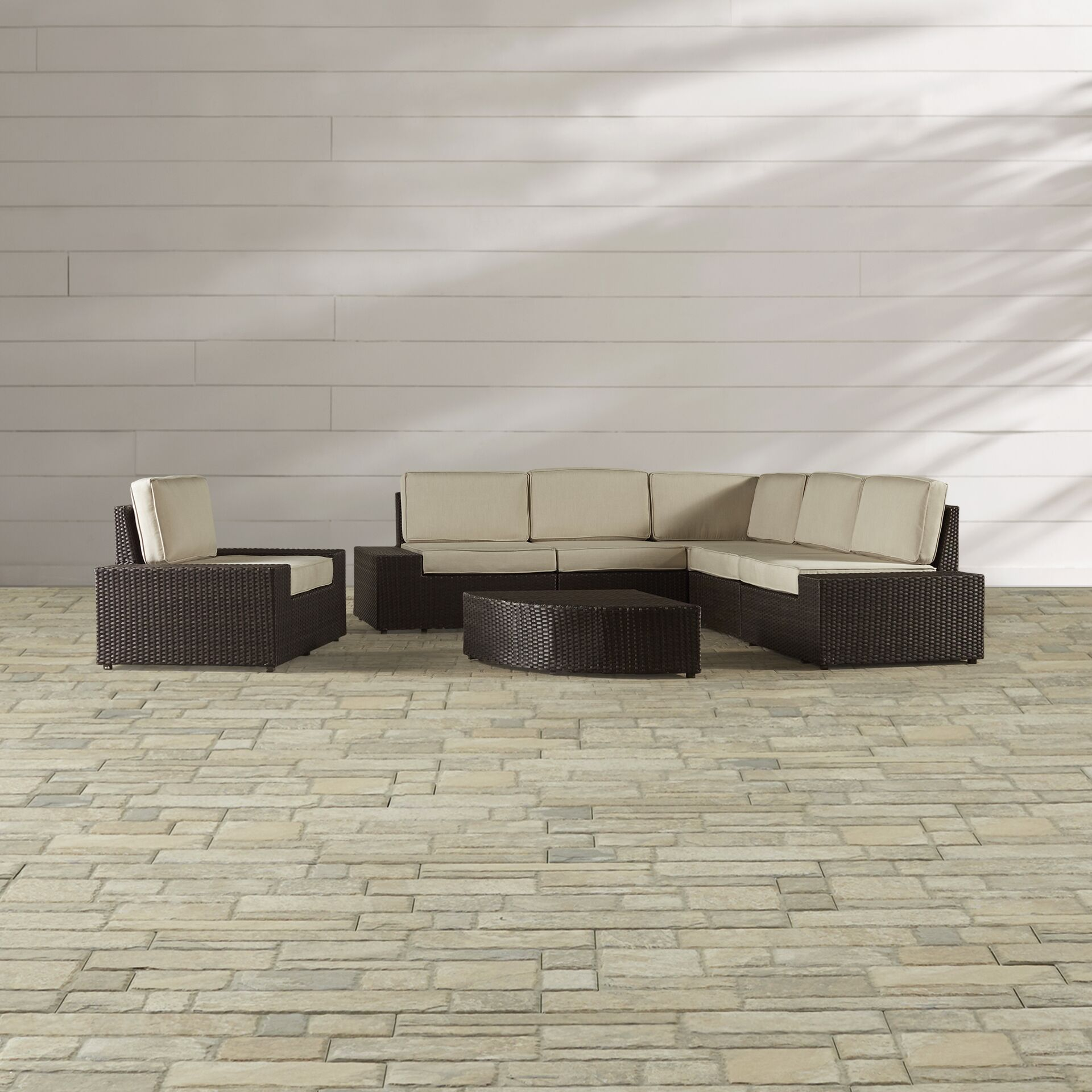 Woodall 7 Piece Sunbrella Sectional Set with Cushions