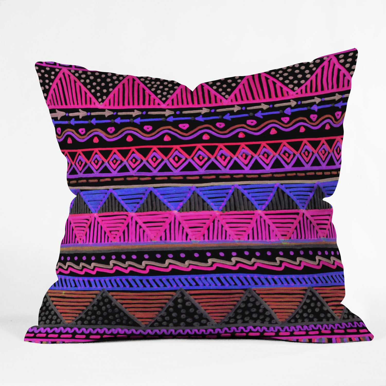 Courter Ocean T Neon Throw Pillow Size: 20