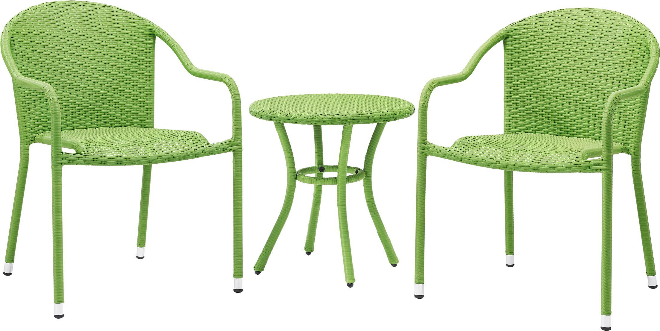 Belton 3 Piece Conversation Set Color: Green