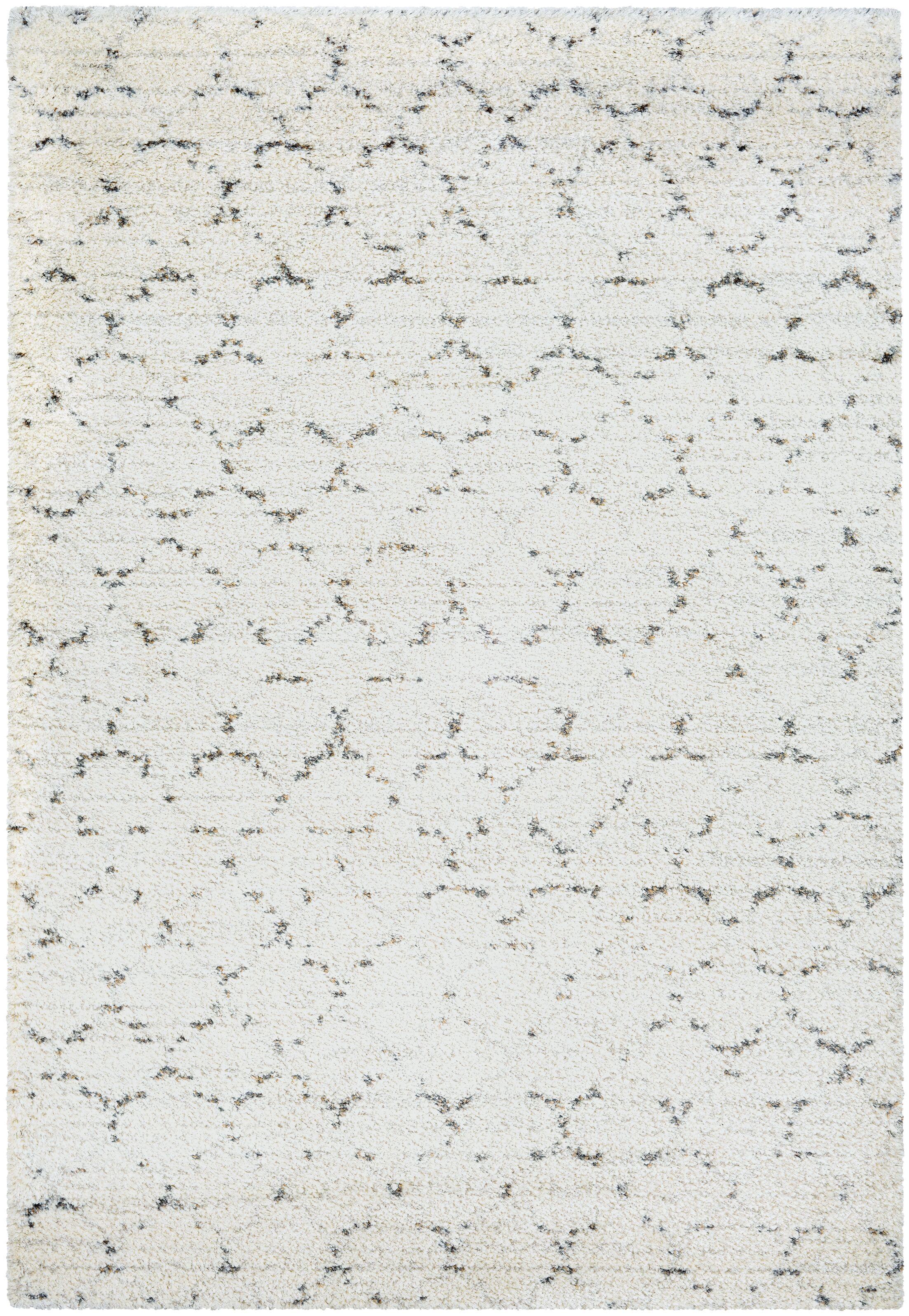 Arona Snow/Brown Area Rug Rug Size: Rectangle 7'10