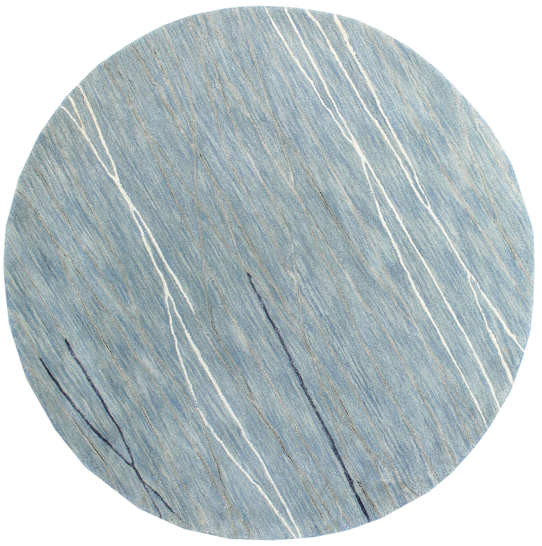 Luczak Hand-Tufted Light Blue Area Rug Rug Size: Round 8'