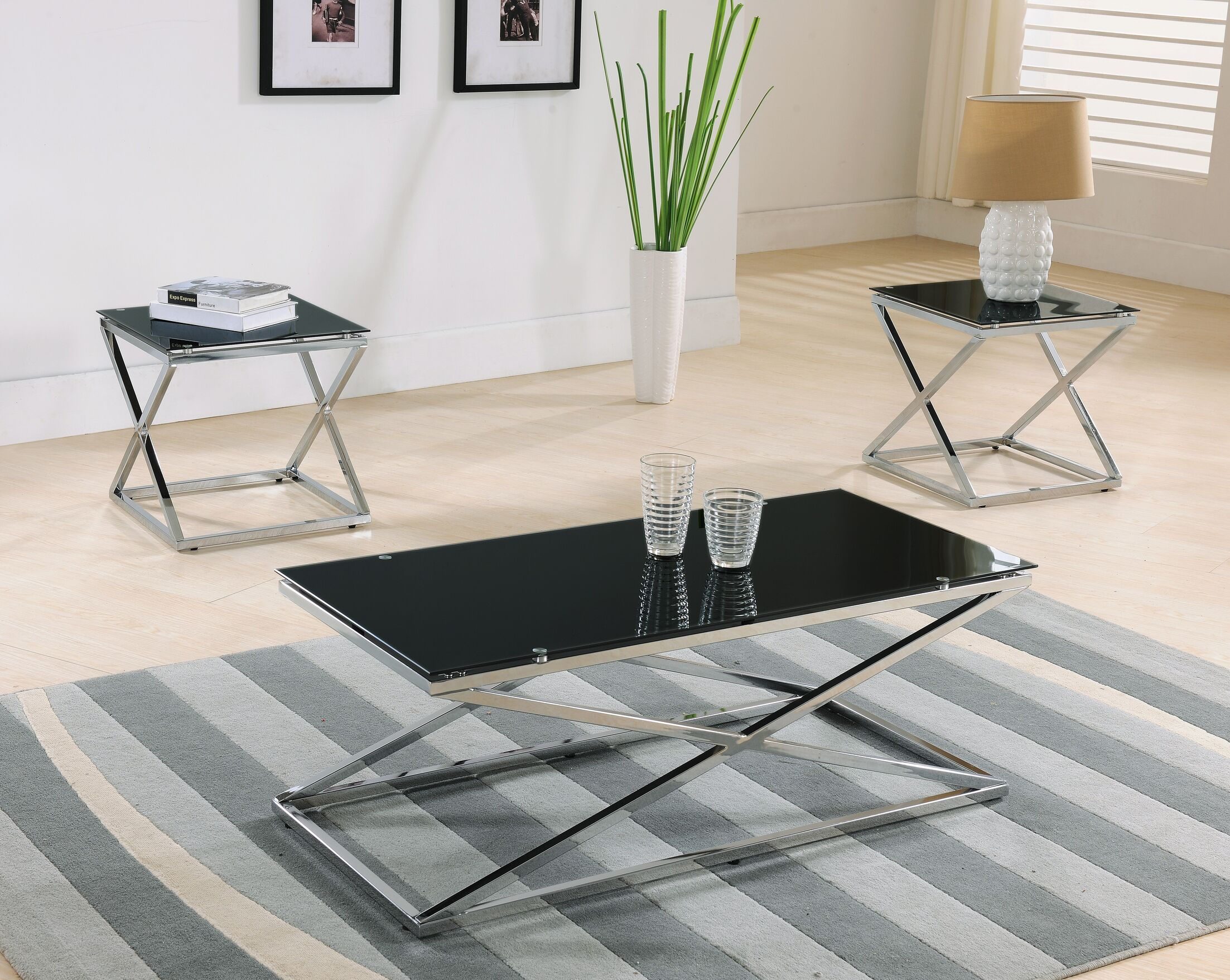 Maderia 3 Piece Coffee Table Set