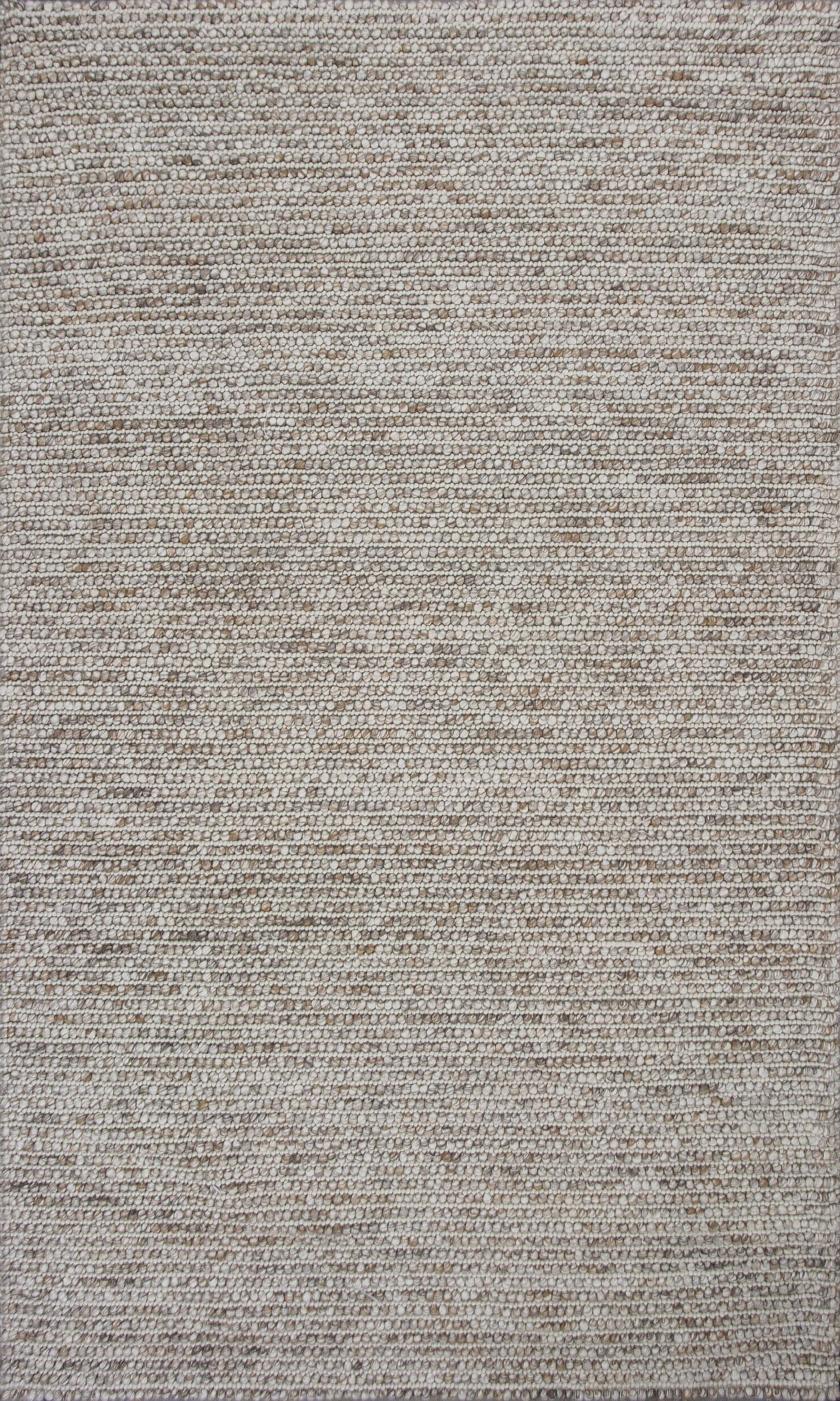 Errol Hand Woven Wool Beige Area Rug Size: 7'6