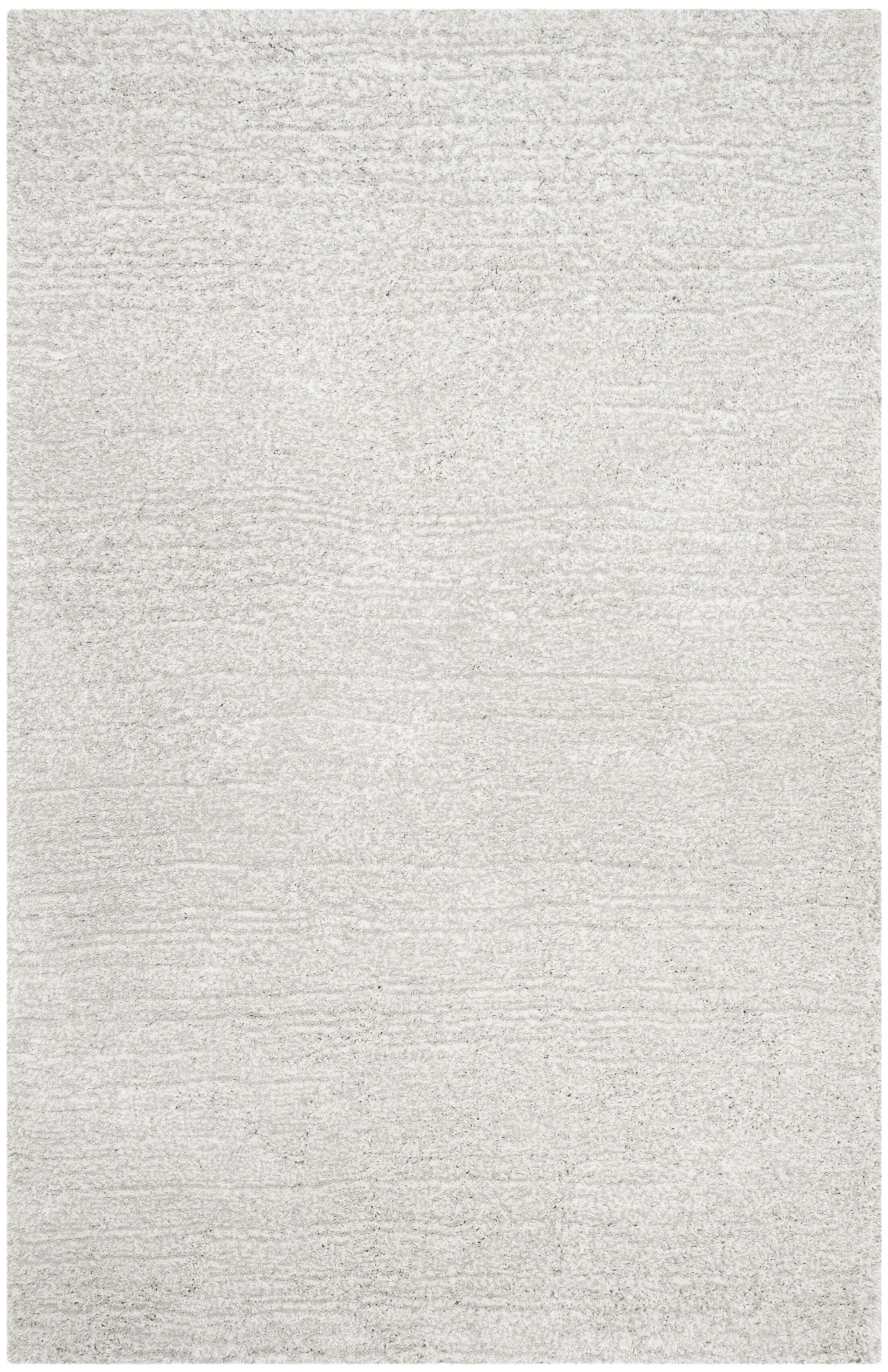 Sadler Hand-Tufted Silver/ Ivory Area Rug Rug Size: Rectangle 4' x 6'