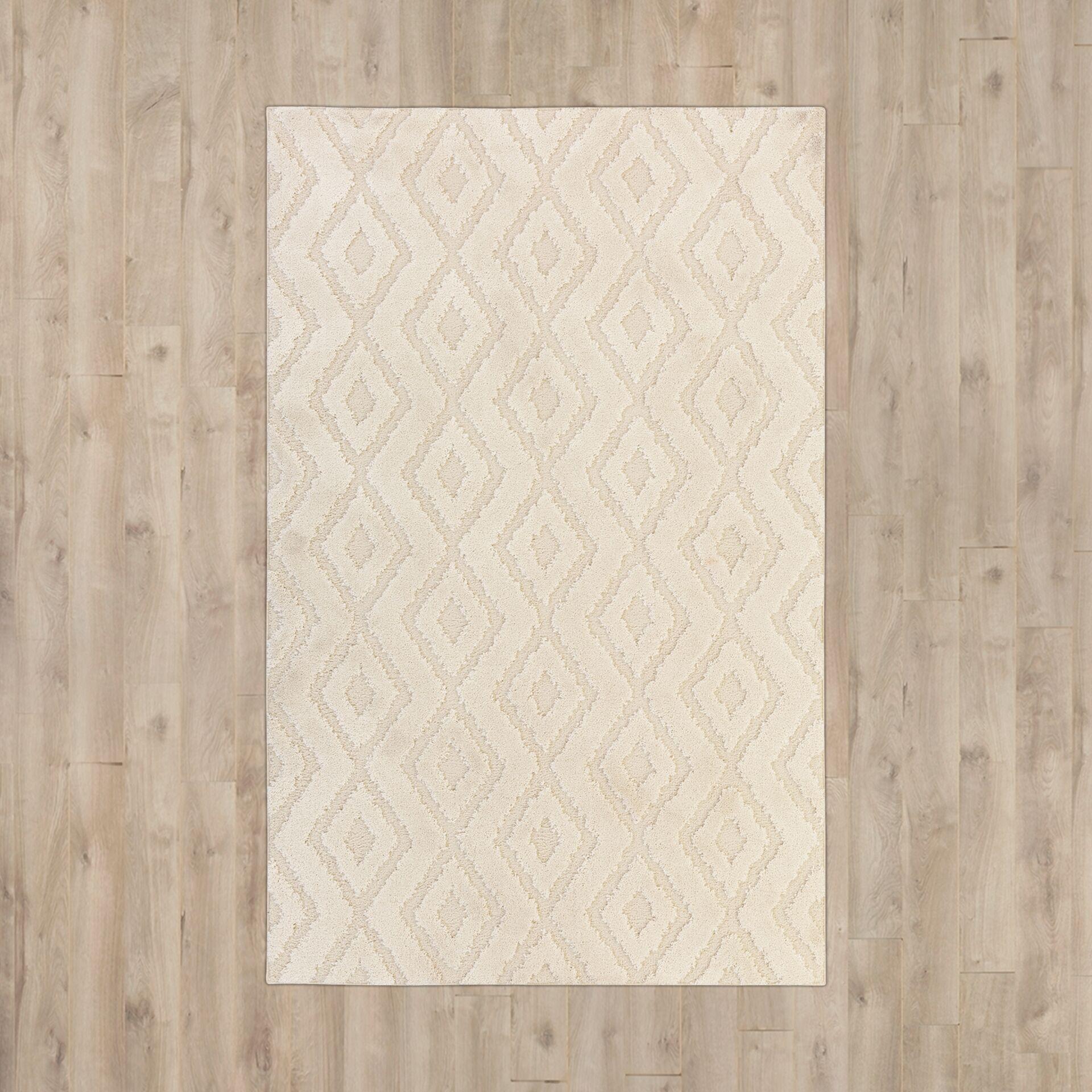 Nickson Cream Area Rug Rug Size: Rectangle 5' x 8'