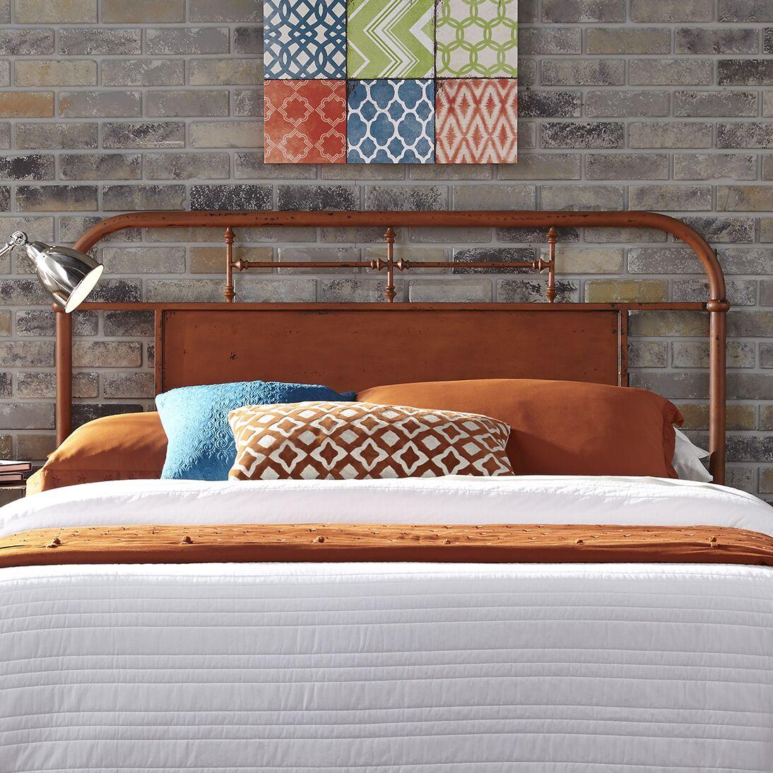 Lamont Open-Frame Headboard Color: Orange, Size: Twin