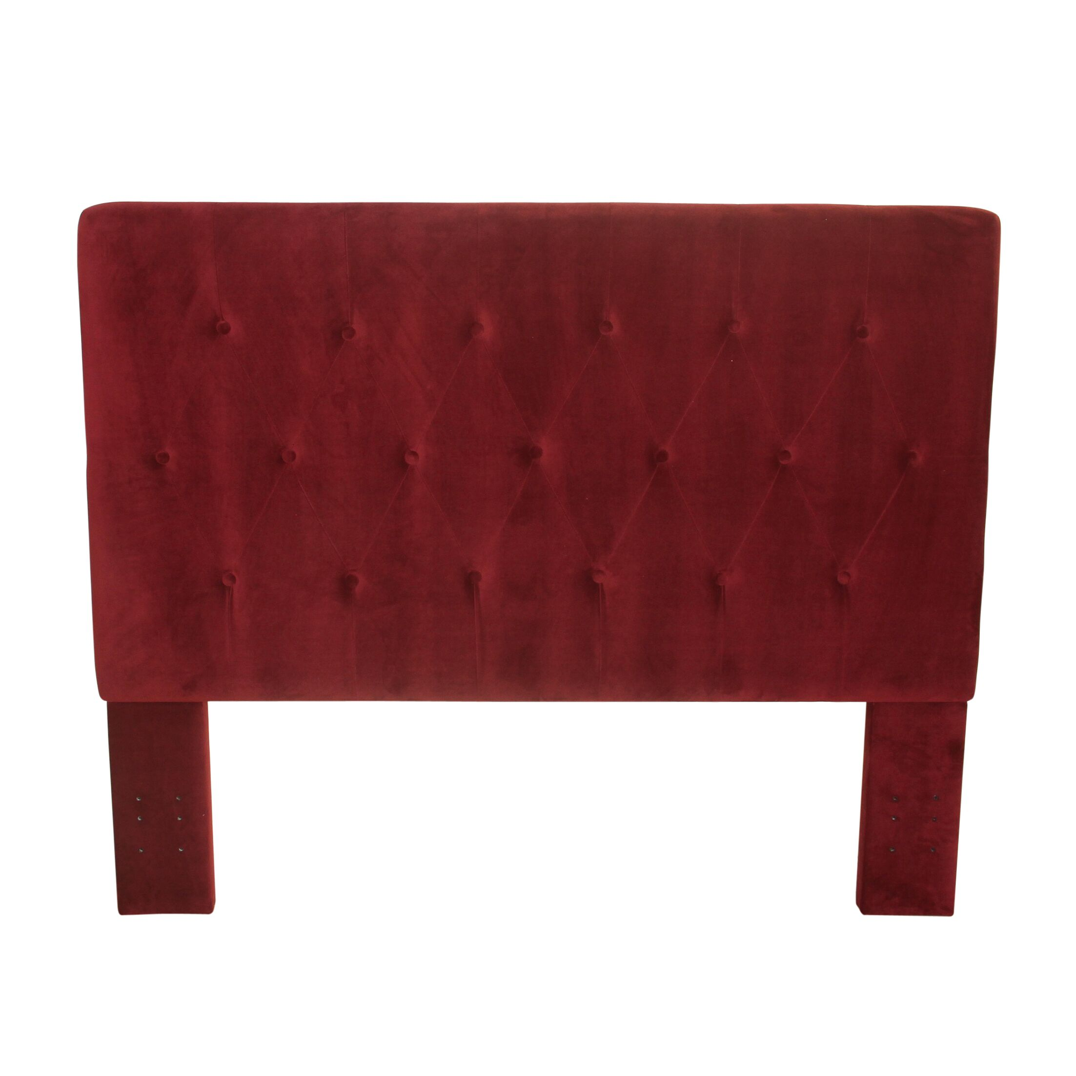 Chrystie Upholstered Panel Headboard Color: Berry