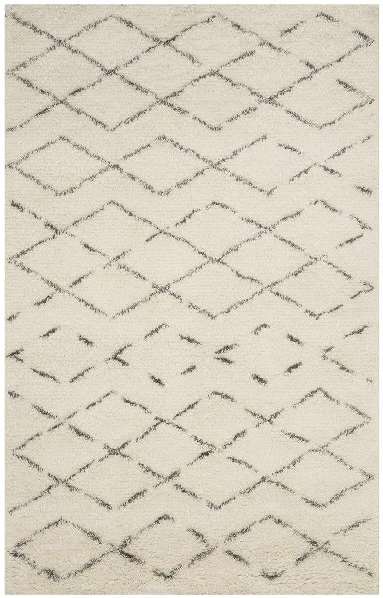 Eleftheria Hand-Tufted Beige Area Rug Rug Size: Rectangle 9' x 12'