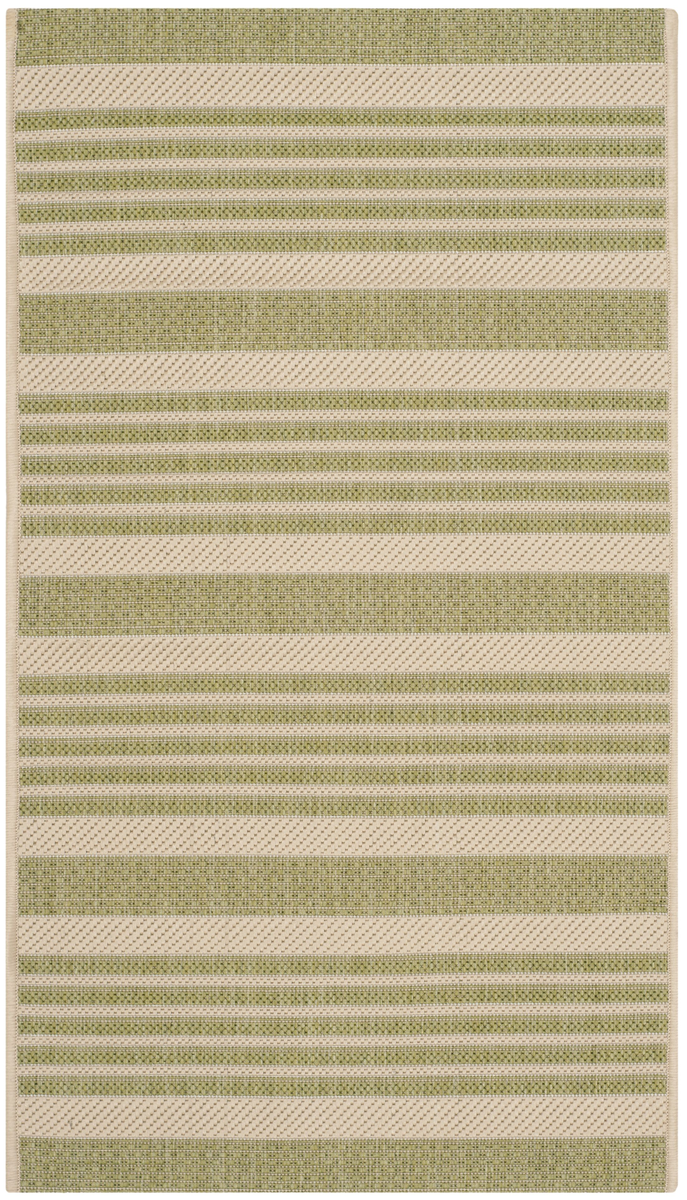 Sophina Beige/Sweet Pea Striped Contemporary Indoor/Outdoor Area Rug Rug Size: Rectangle 5'3
