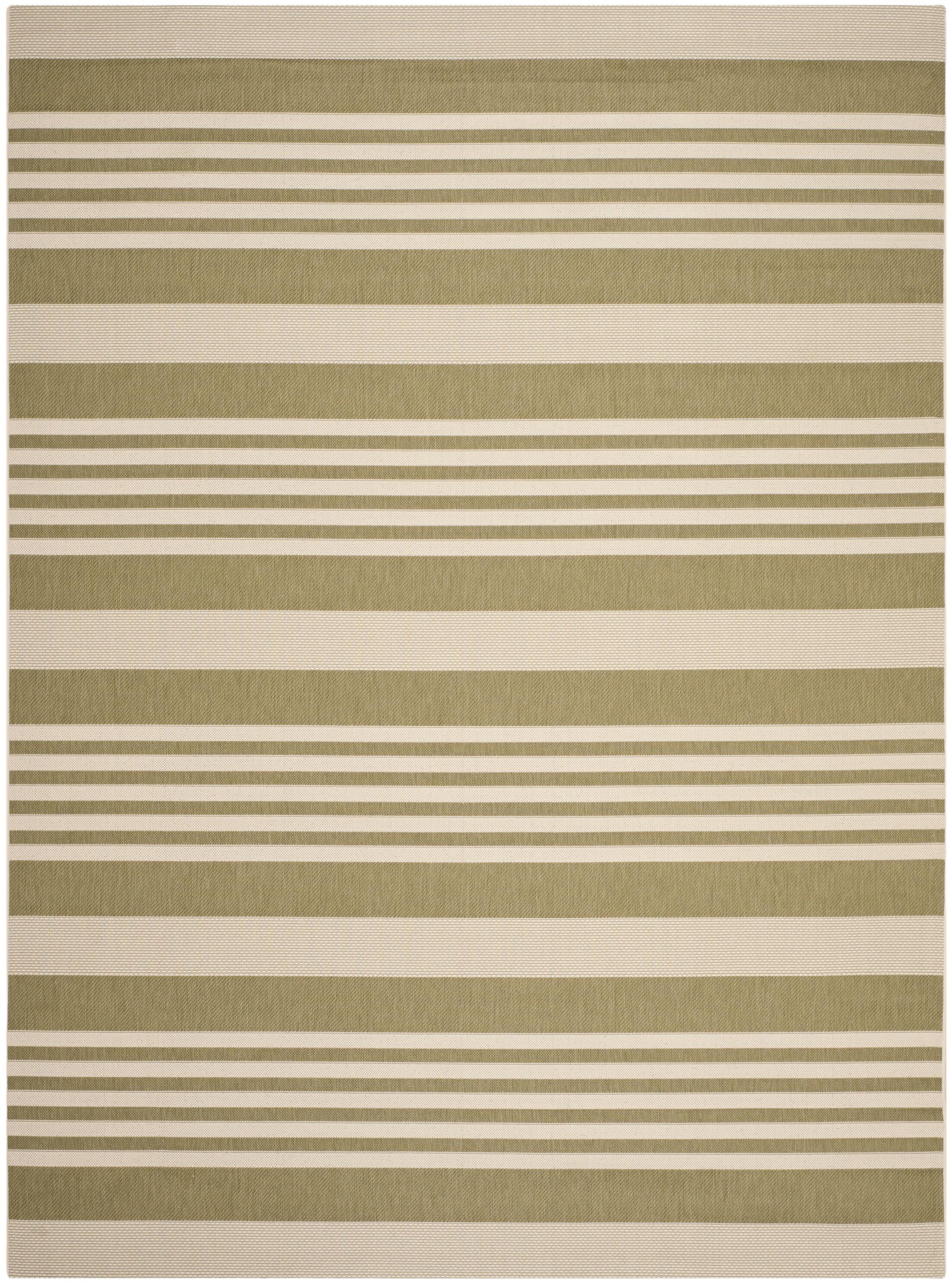 Sophina Green/Beige Indoor/Outdoor Area Rug Rug Size: Rectangle 8' x 11'