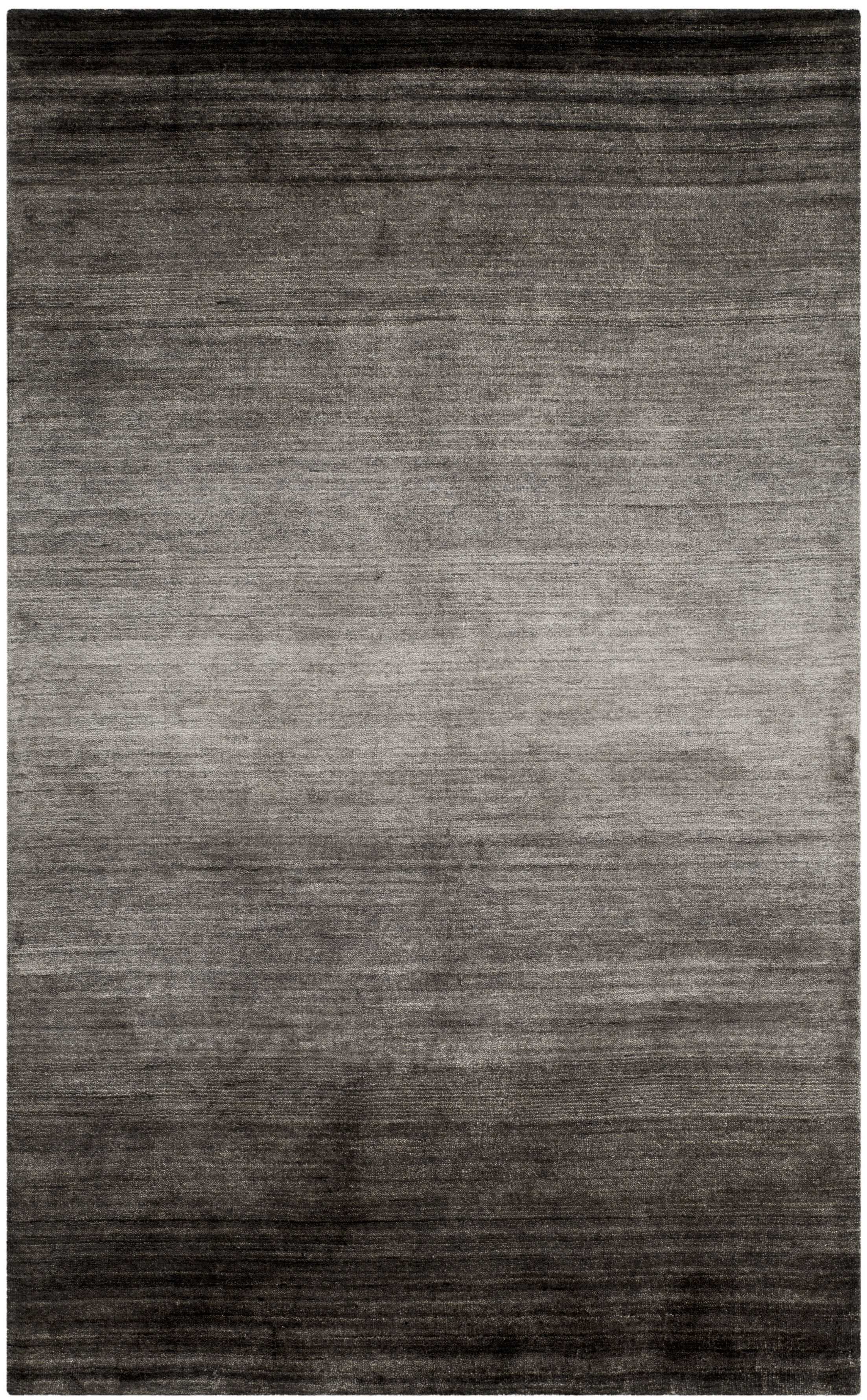 Justin Hand-Woven Black Area Rug Rug Size: Rectangle 10' x 14'