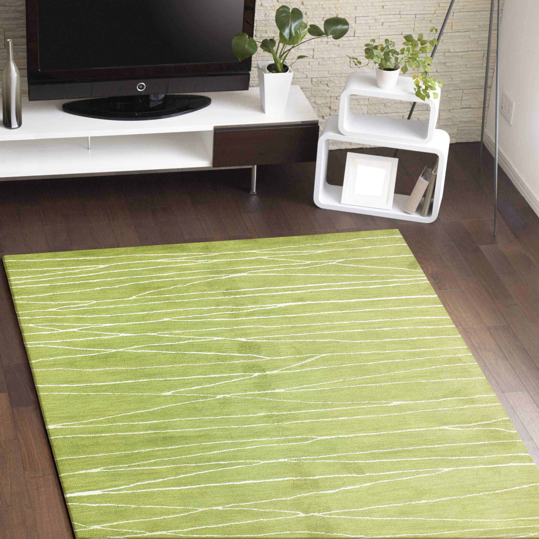 Lucus Hand-Tufted Guacamole Area Rug Rug Size: Rectangle 3'9