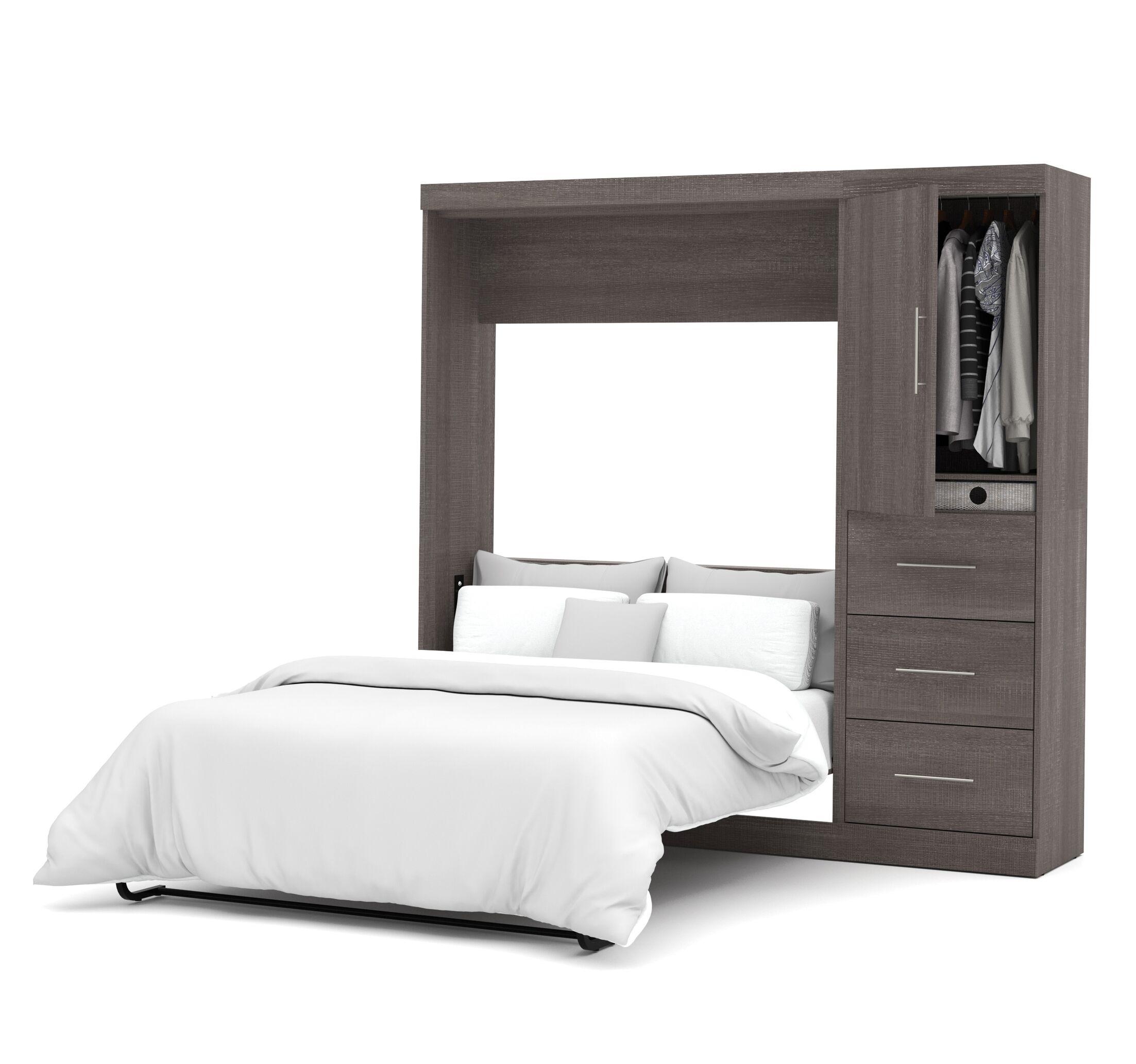 Truett Full/Double Murphy Bed Color: Bark Grey