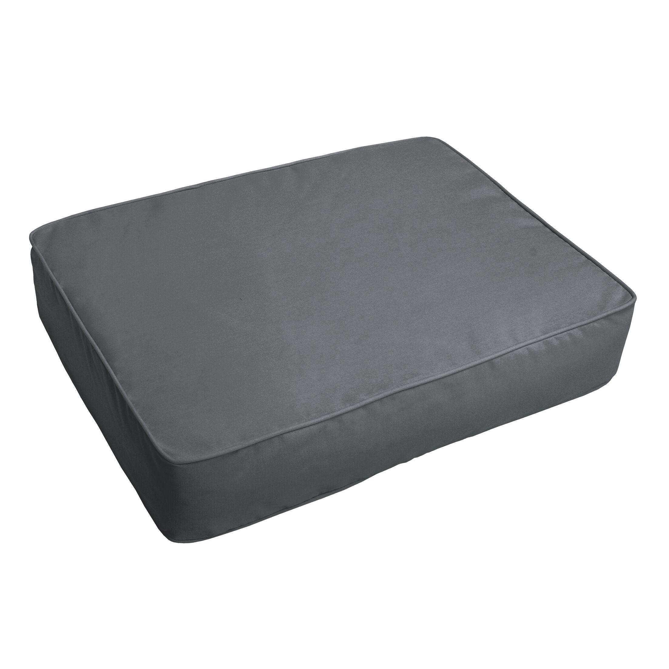 Indoor/Outdoor Floor Pillow Fabric: Charcoal