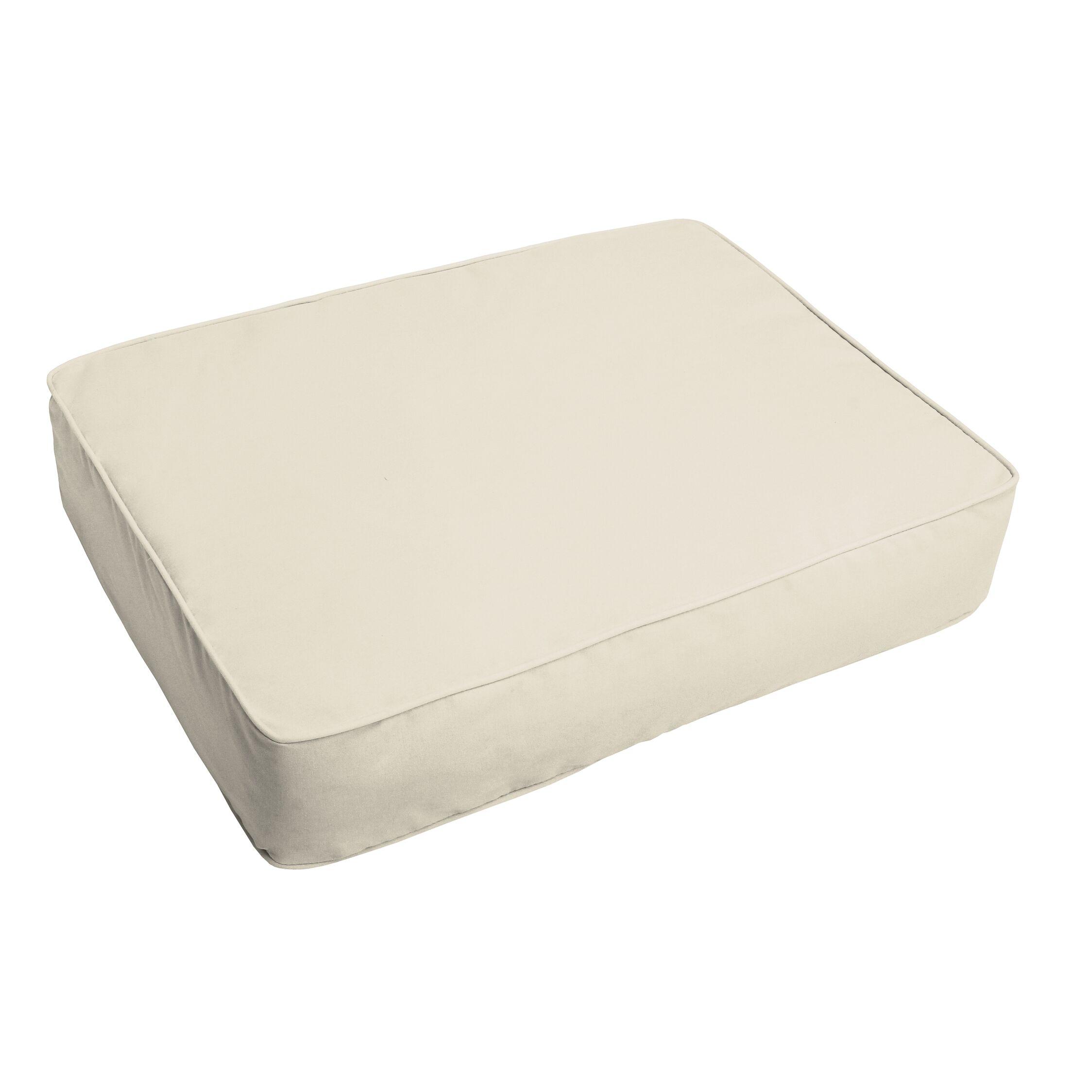 Indoor/Outdoor Floor Pillow Fabric: Ivory