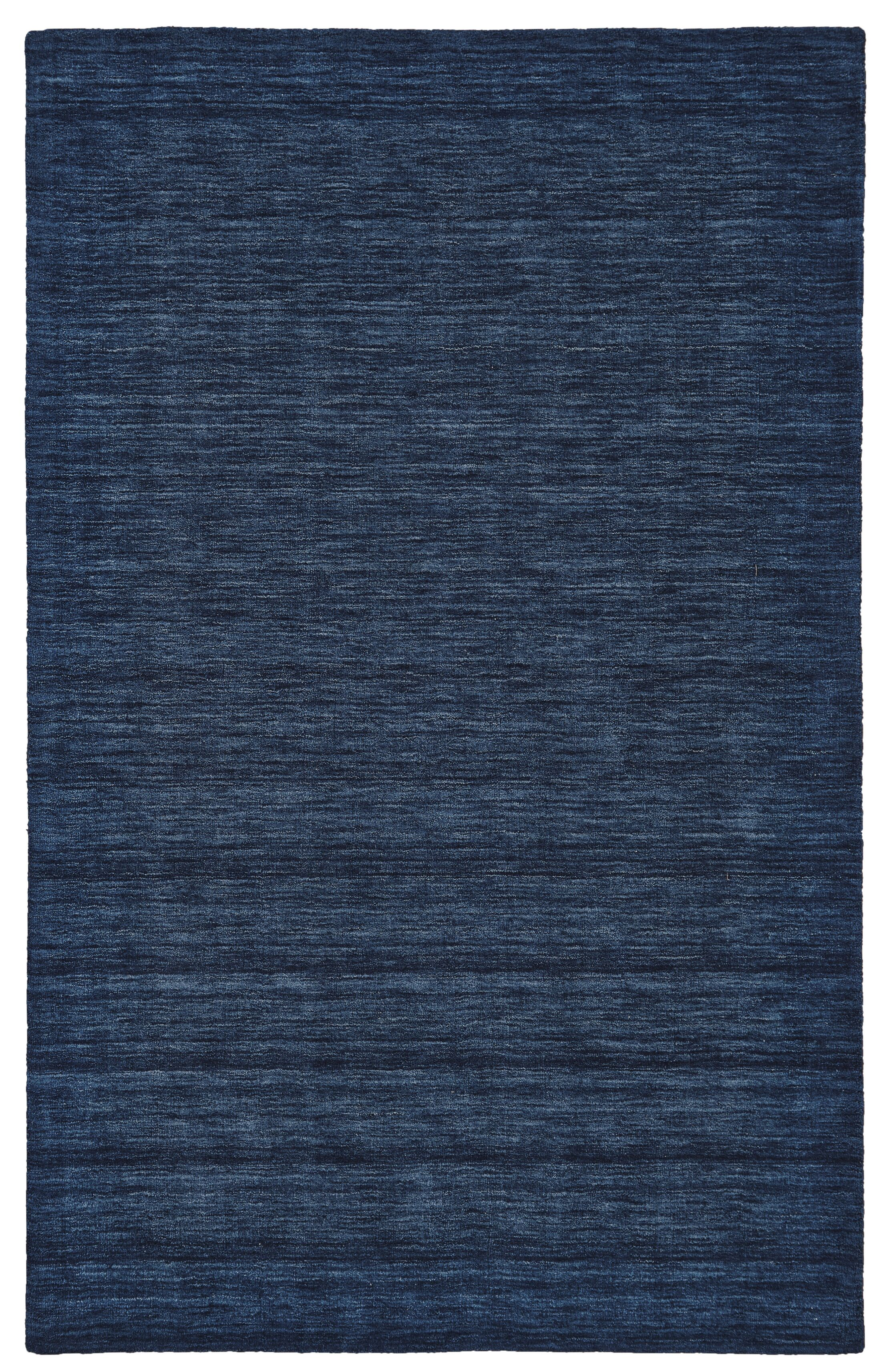 Larissa Hand-Woven Dark Blue Area Rug Rug Size: Rectangle 3'6