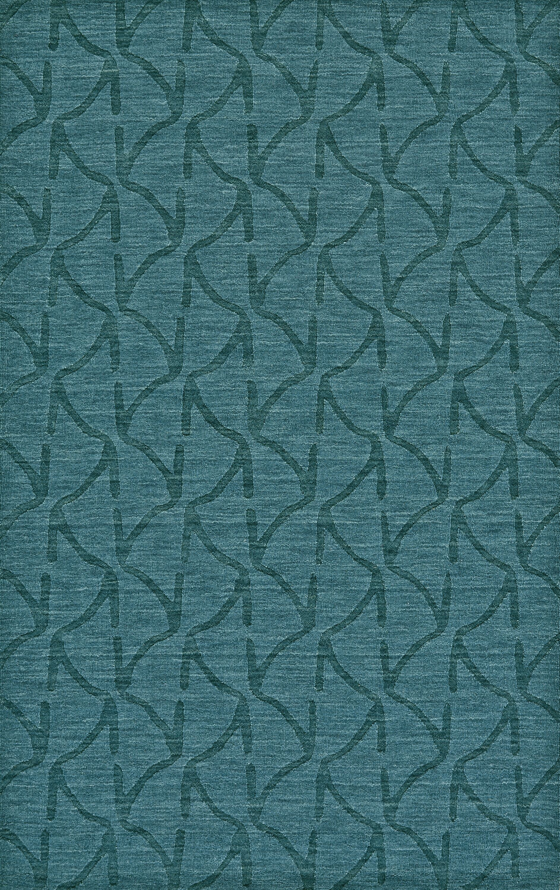 Murray Hand Woven Wool Teal Area Rug Rug Size: Rectangle 9'6