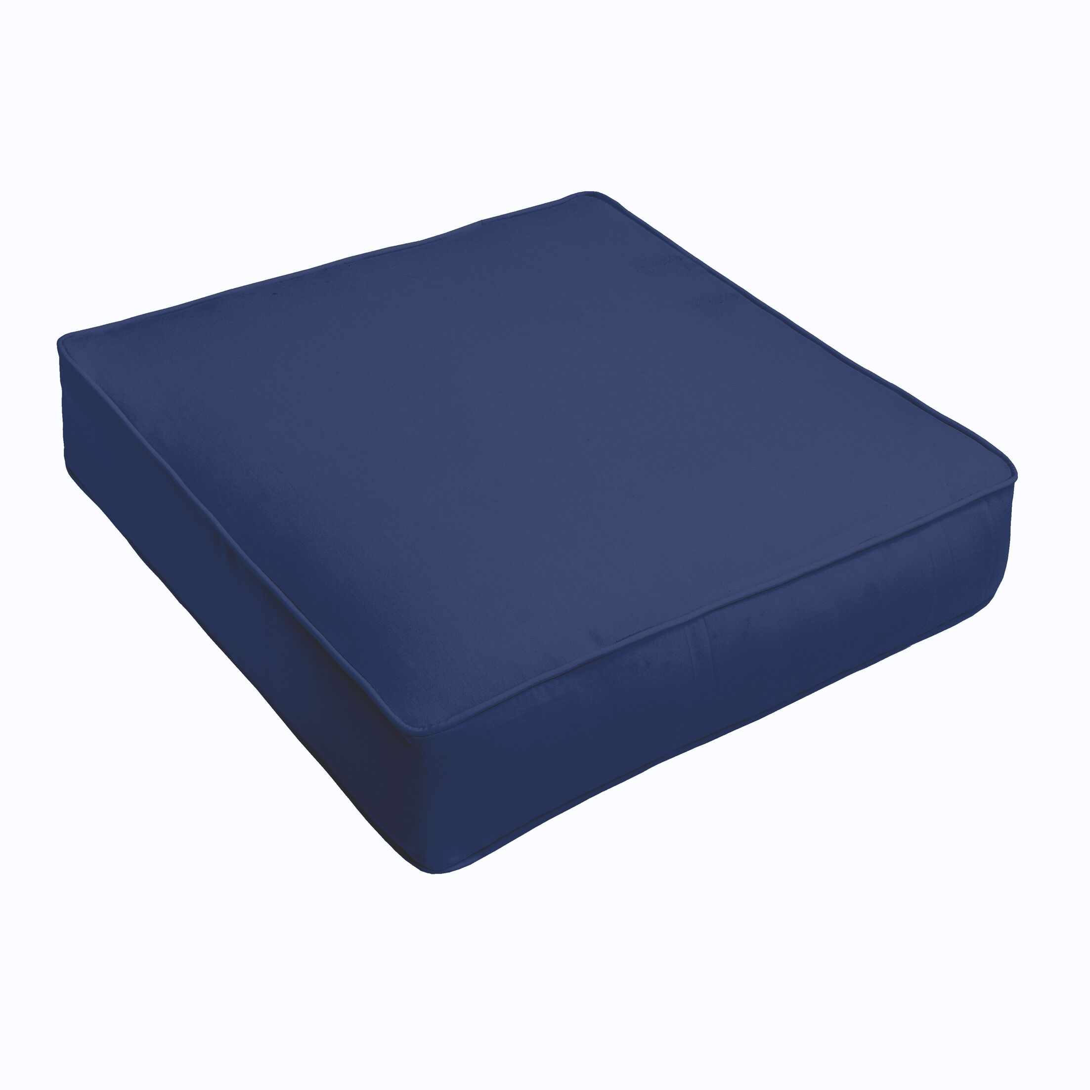 Indoor/Outdoor Chair Cushion Fabric: Dark Blue, Size: 5