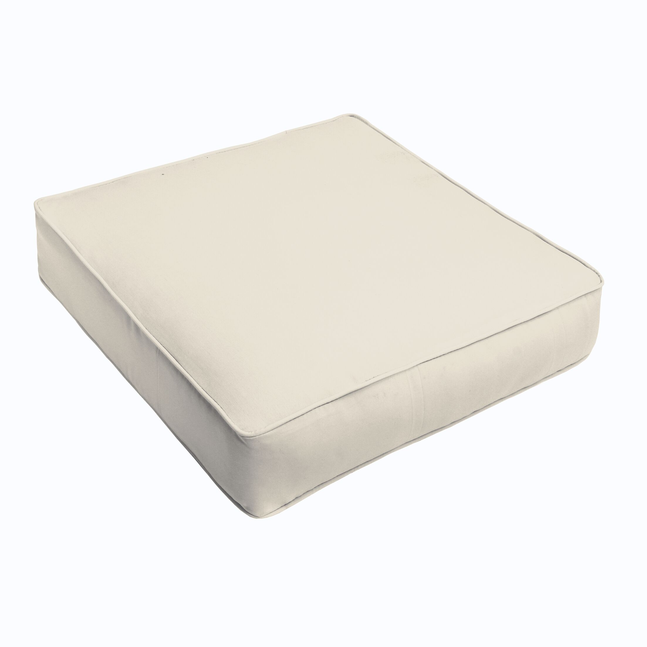 Indoor/Outdoor Chair Cushion Fabric: Ivory, Size: 5