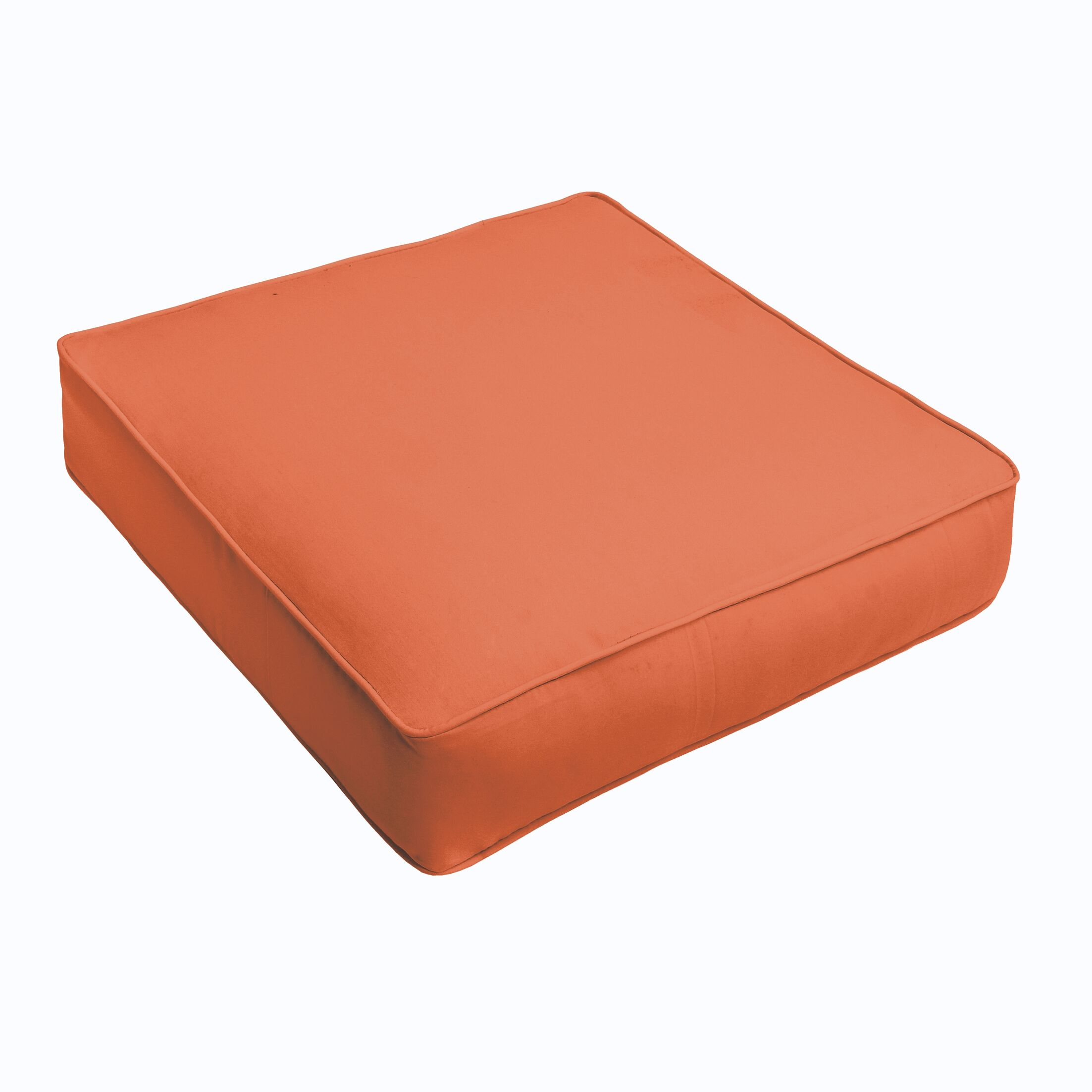 Indoor/Outdoor Chair Cushion Fabric: Mandarin Orange, Size: 3