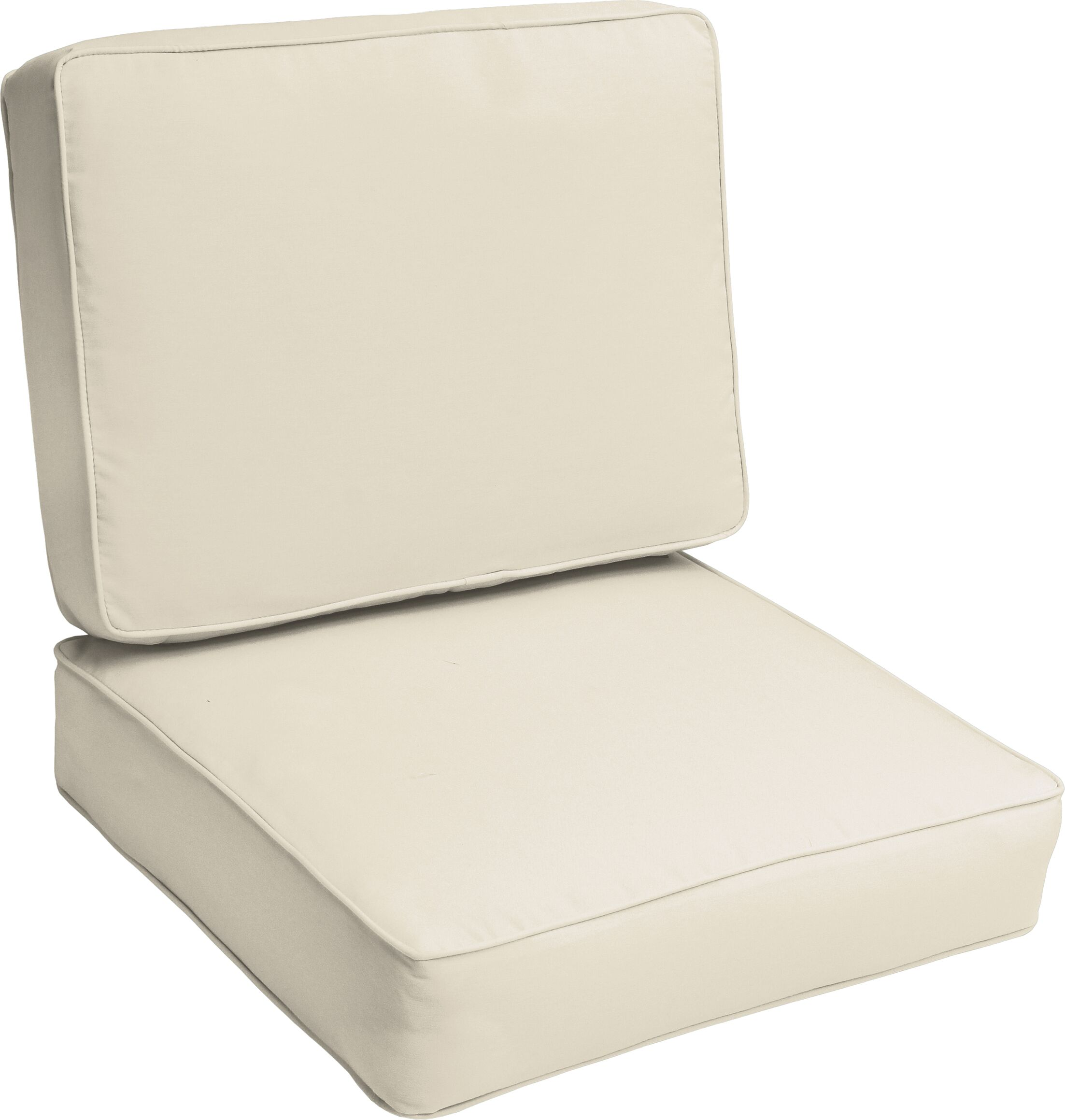 Indoor/Outdoor Lounge Chair Cushion Color: Ivory