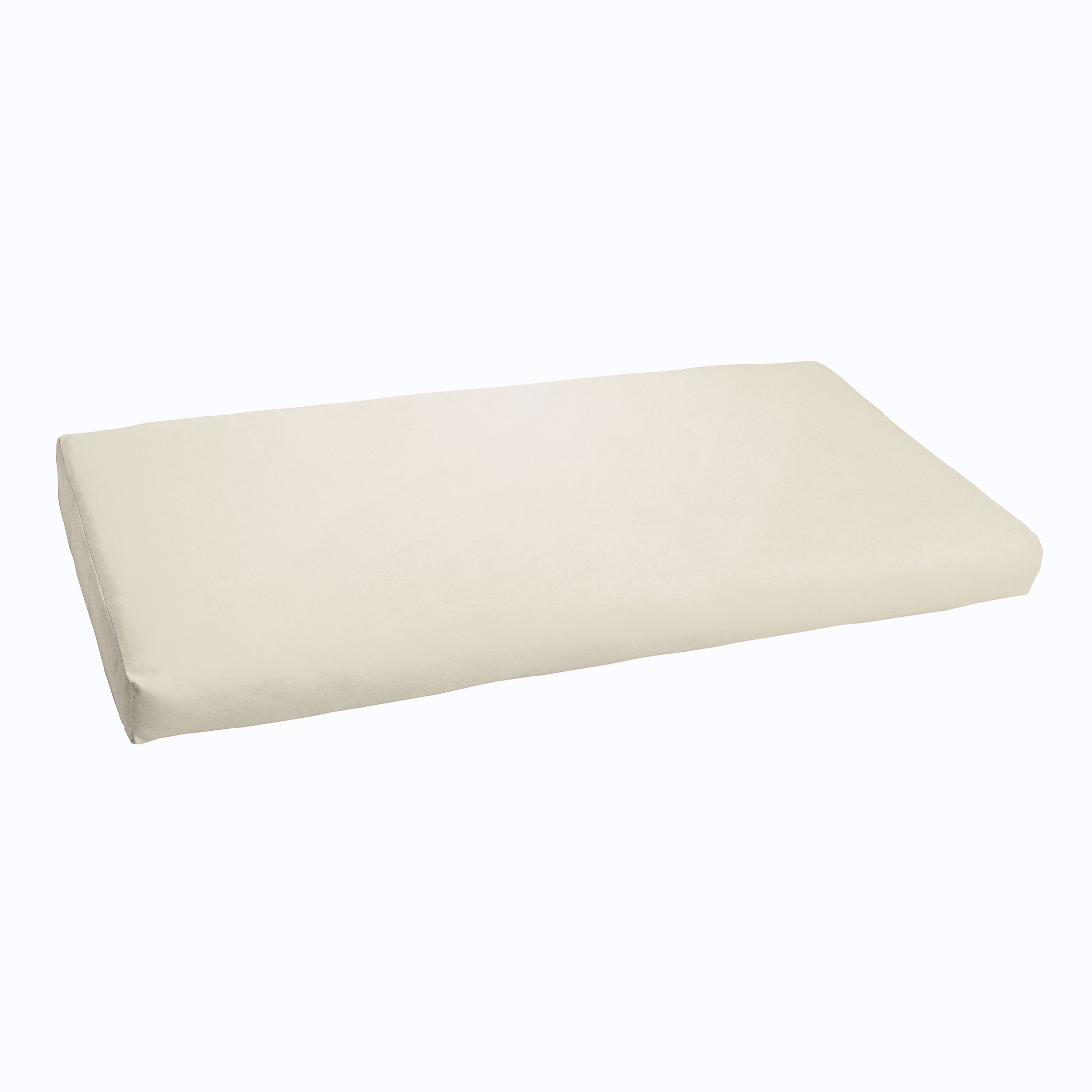Indoor/ Indoor/Outdoor Bench Cushion Fabric: Ivory, Size: 60