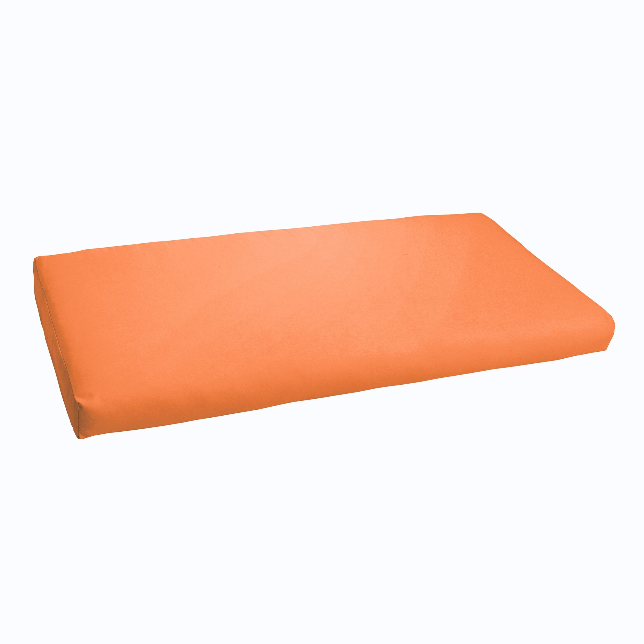 Indoor/ Indoor/Outdoor Bench Cushion Fabric: Bright Orange, Size: 60