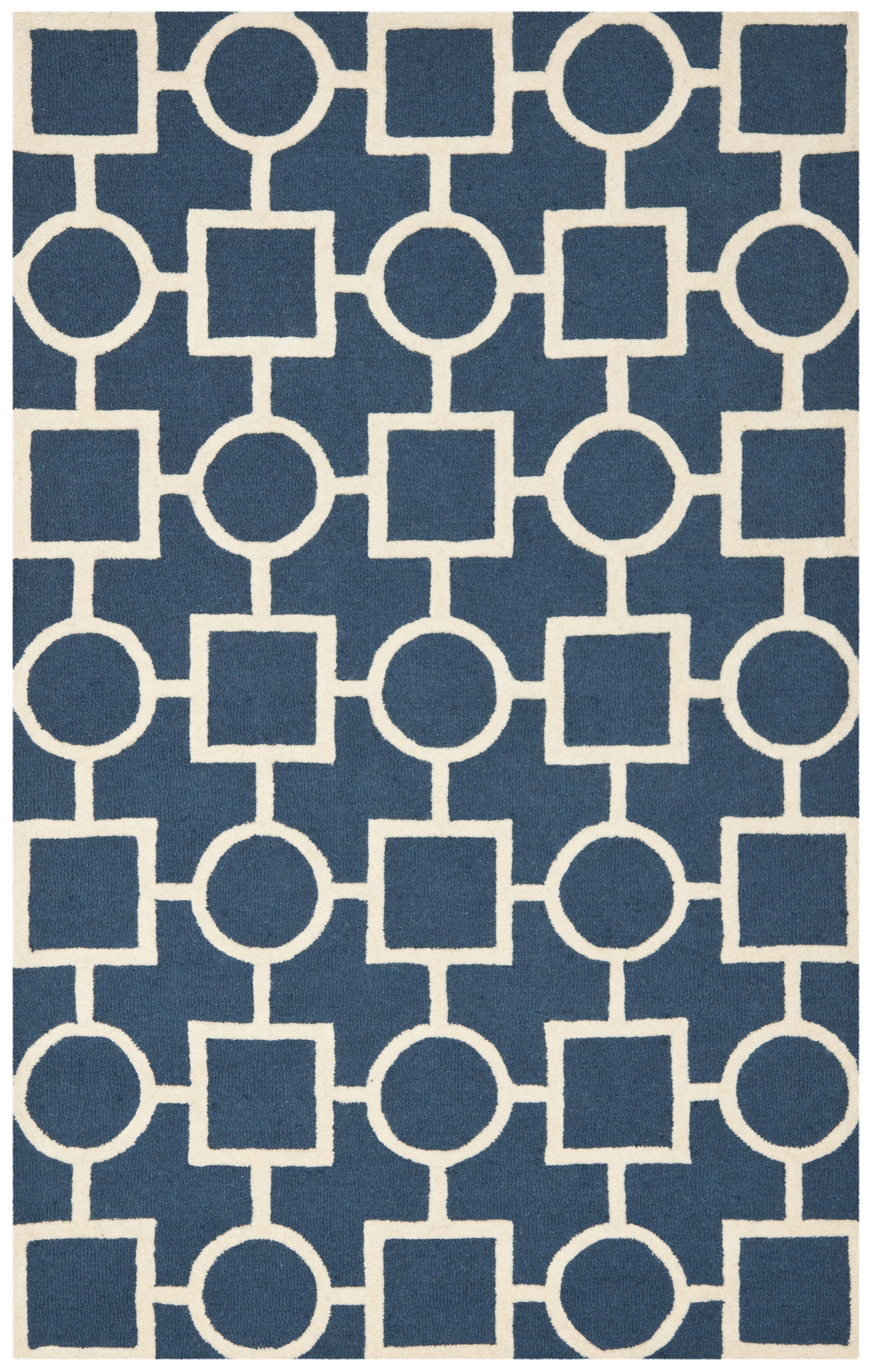 Harbin Blue Navy / Ivory Area Rug Rug Size: Rectangle 5' x 8'