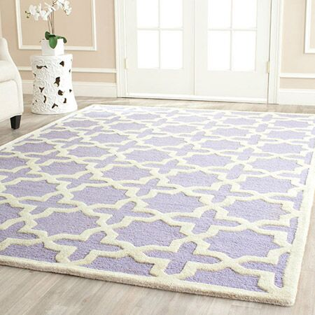 Harbin Hand-Tufted Wool Lavender/Ivory Area Rug Rug Size: Rectangle 6' x 6'