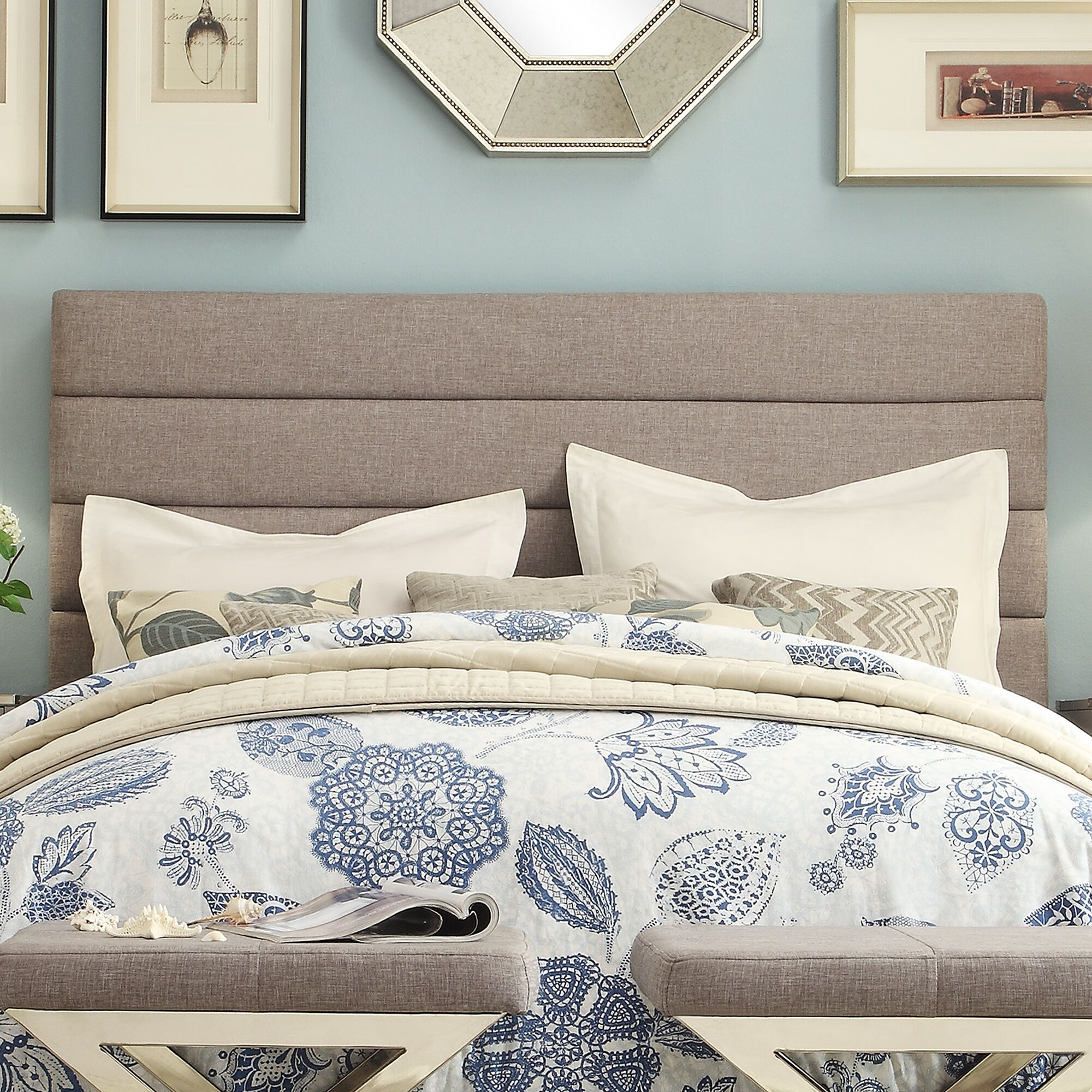 Canton Upholstered Panel Headboard Size: Queen