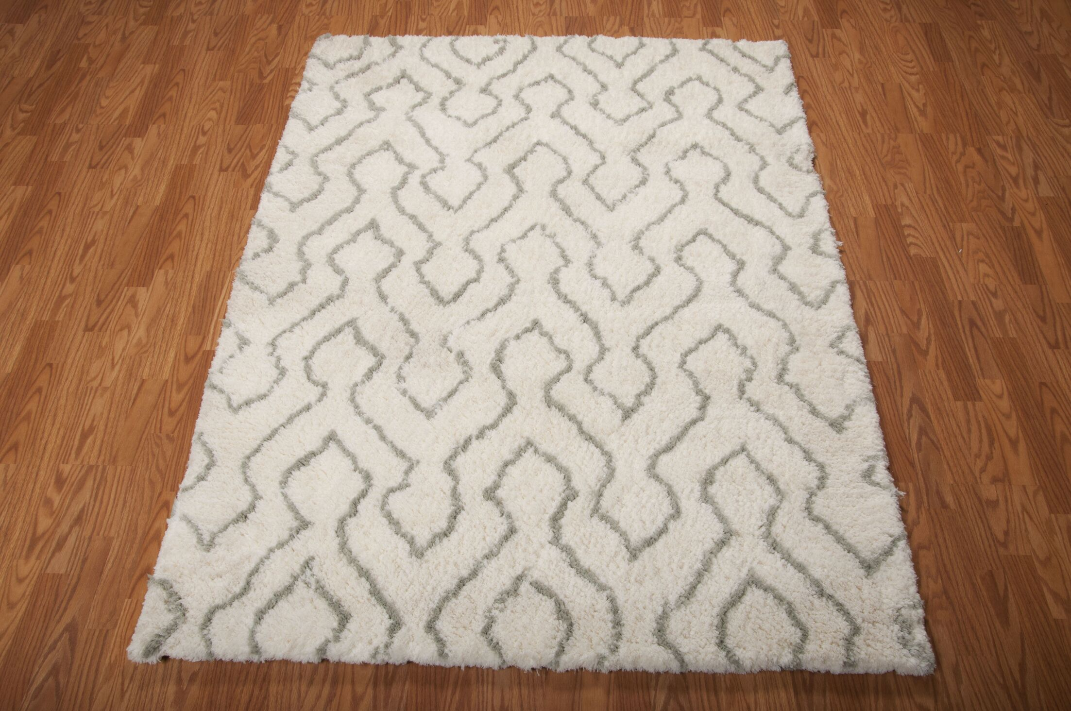 North Moore Hand-Tufted Ivory/Sage Area Rug Rug Size: Rectangle 5' x 7'