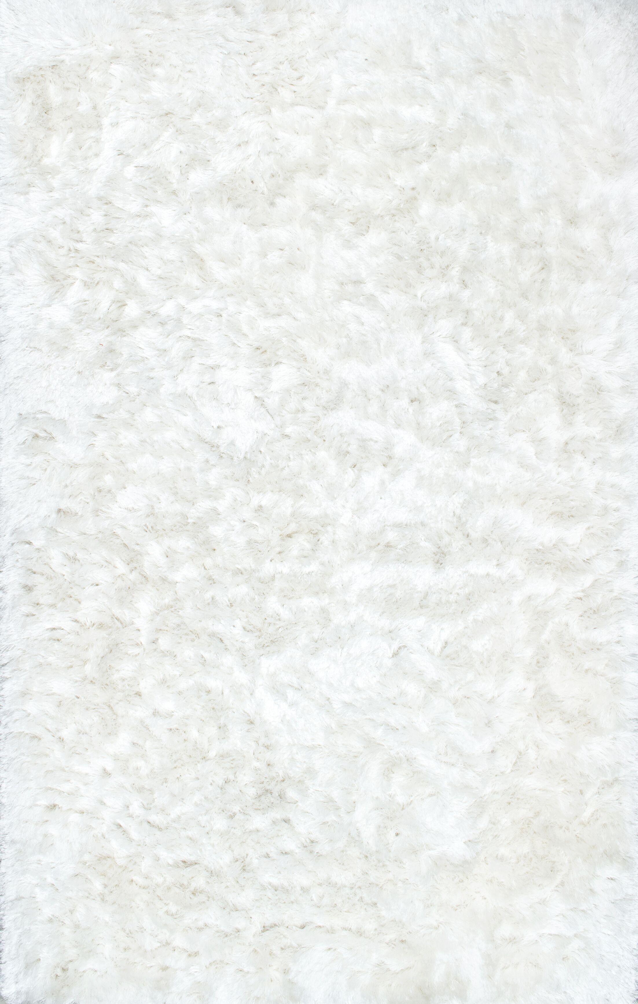 Sisyphus Hand-Woven White Area Rug Rug Size: Rectangle 3' x 5'