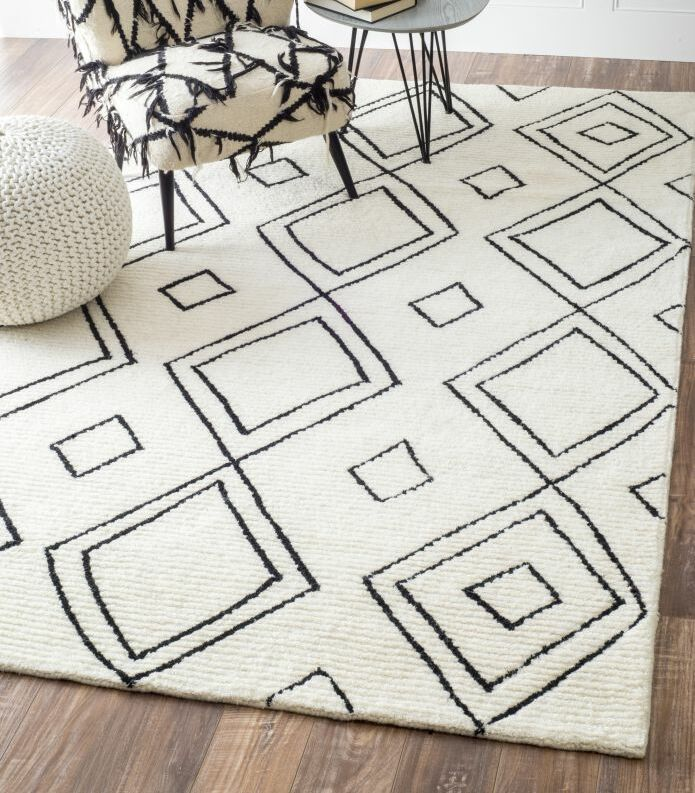 Musselman Hand-Tufted Natural Area Rug Rug Size: Rectangle 7'6
