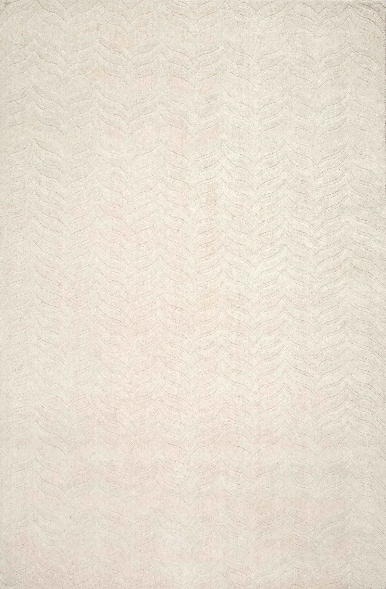 Myron Hand-Woven Ivory Area Rug Rug Size: Rectangle 7'6