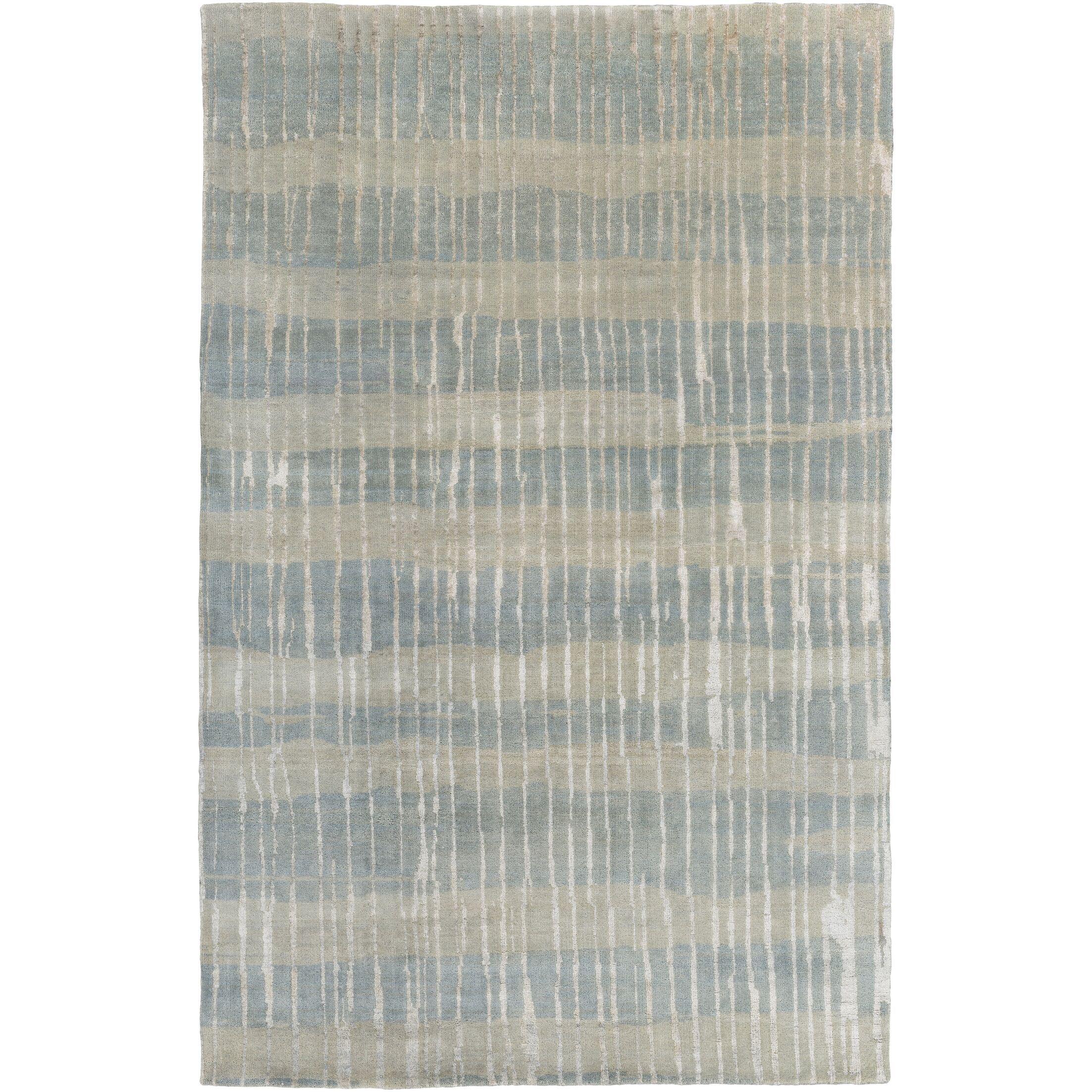 Sepviva Hand-Knotted Teal/Tan Area Rug Rug Size: Rectangle 2' x 3'