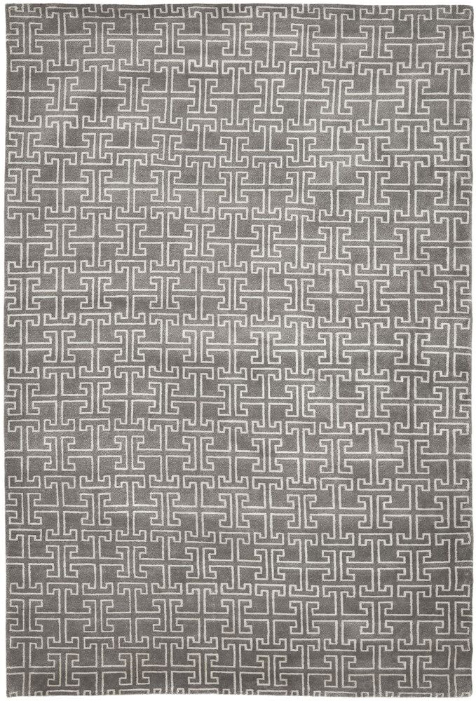 Solorio Hand-Knotted Gray/Ivory Area Rug Rug Size: Rectangle 2' x 3'