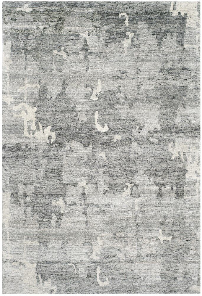 Steinway Hand-Knotted Charcoal Area Rug Rug Size: Rectangle 9' x 12'