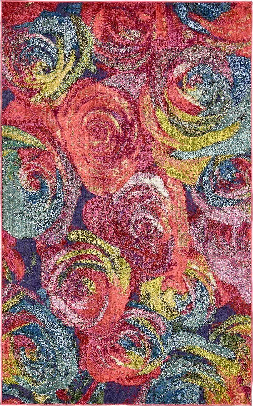 Sofia Pink Area Rug Rug Size: Rectangle 8' x 10'