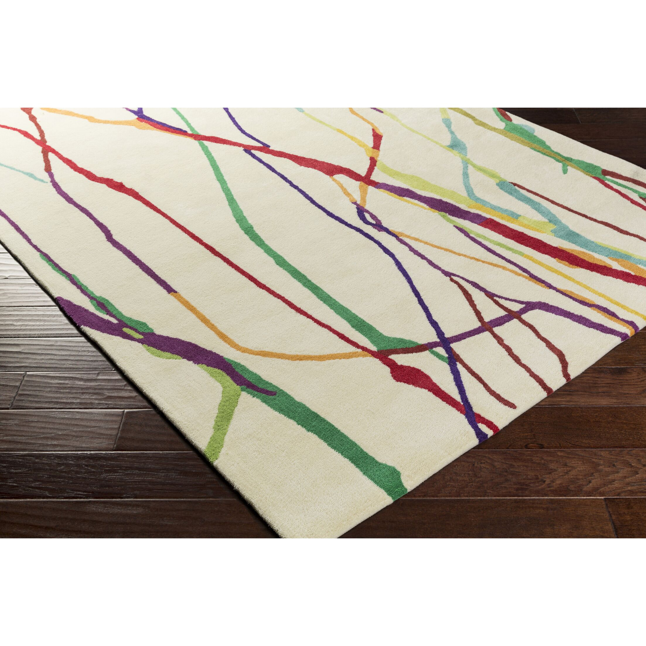 Zellers Hand-Tufted Yellow/Red Area Rug Rug Size: Rectangle 8' x 10'