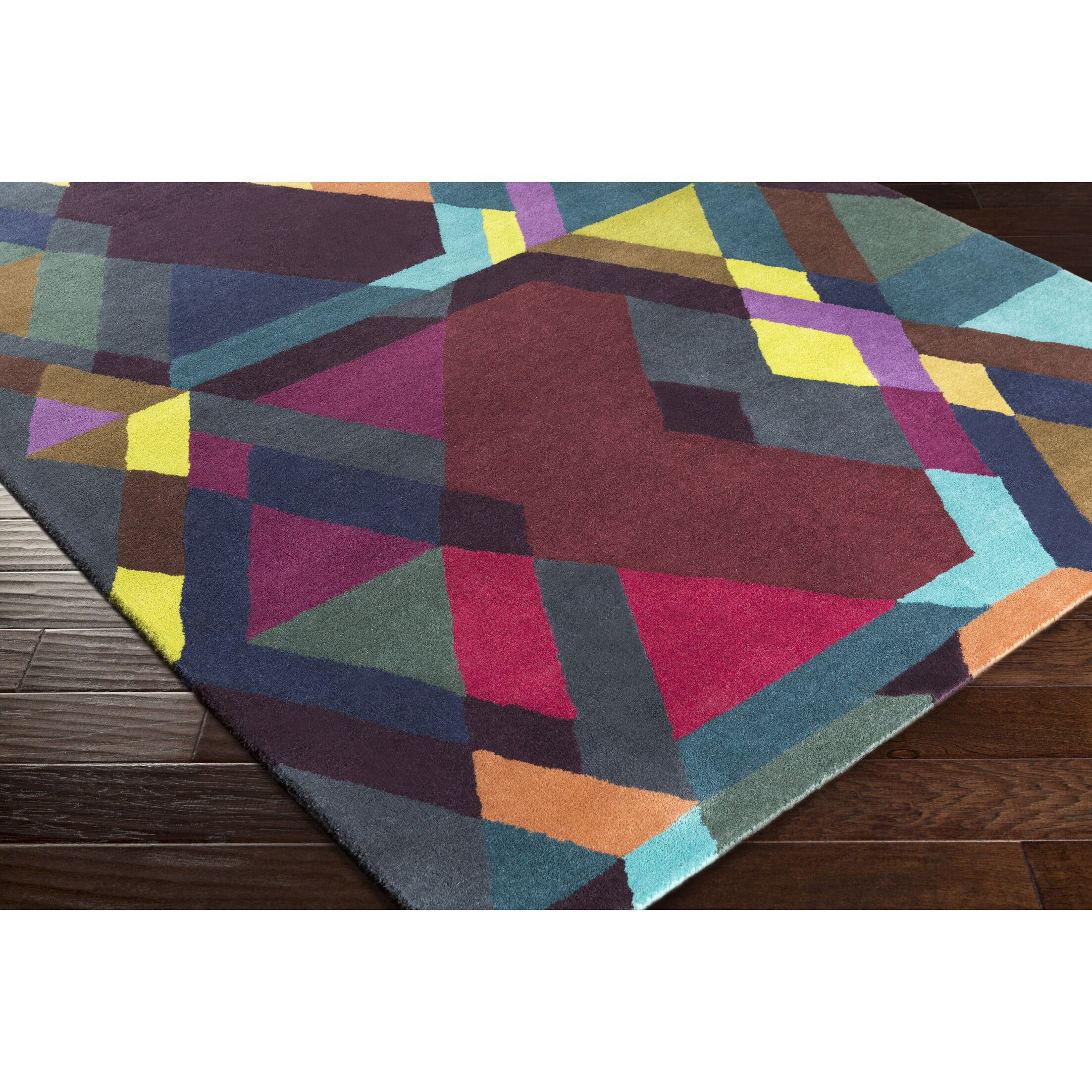 Donalson Hand-Tufted Purple/Red Area Rug Rug Size: Rectangle 2' x 3'