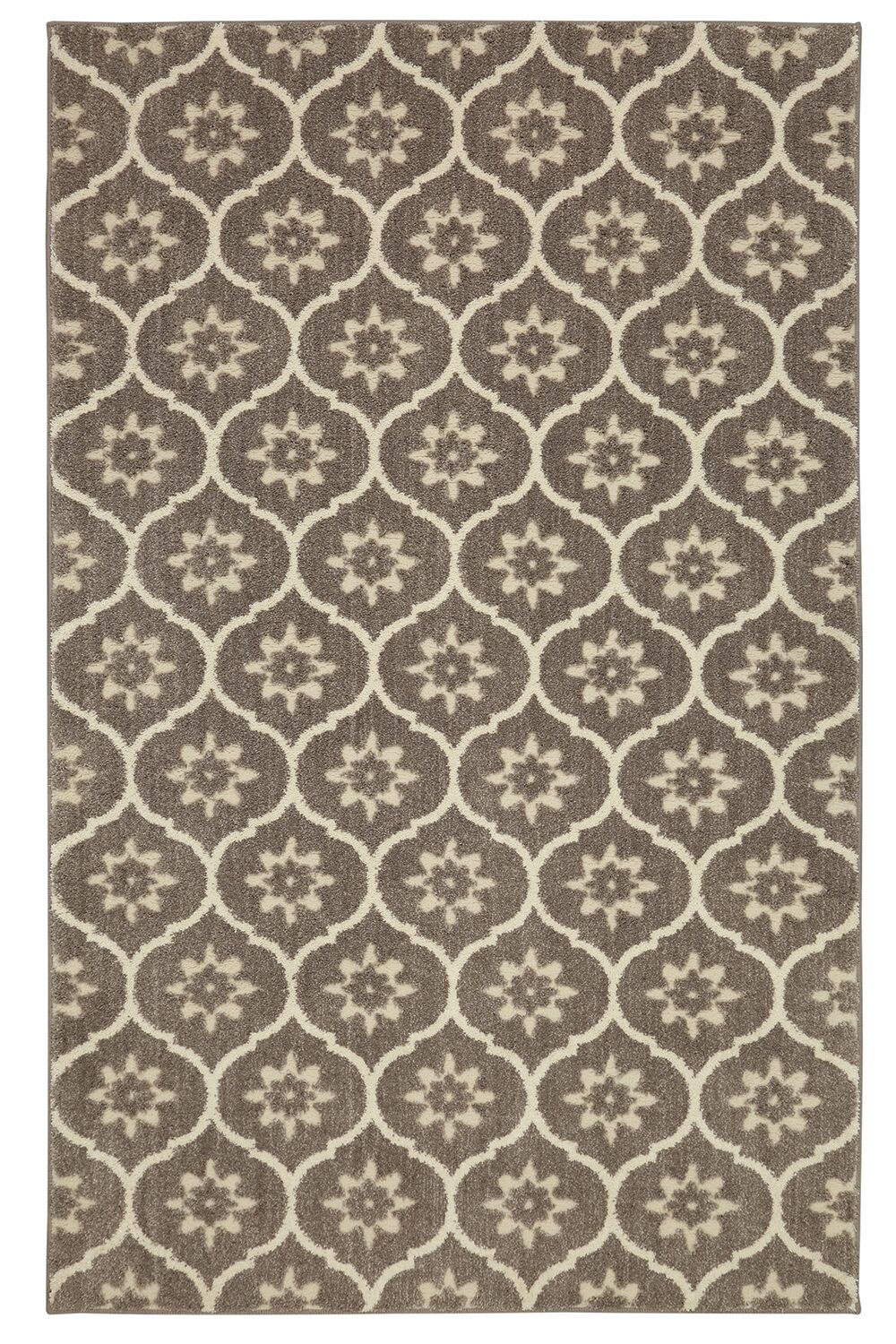 Pinaire Gray/Beige Area Rug Rug Size: Rectangle 2'1