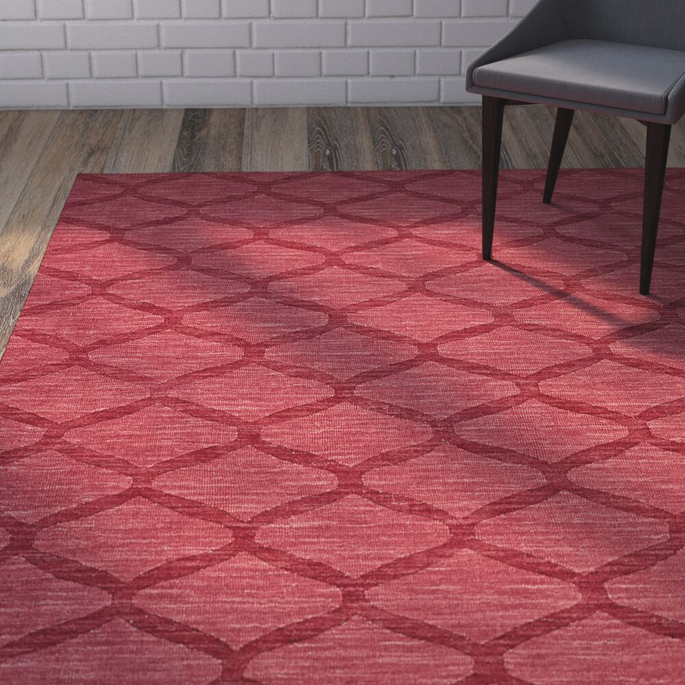 Murray Red Area Rug Rug Size: Rectangle 3'6