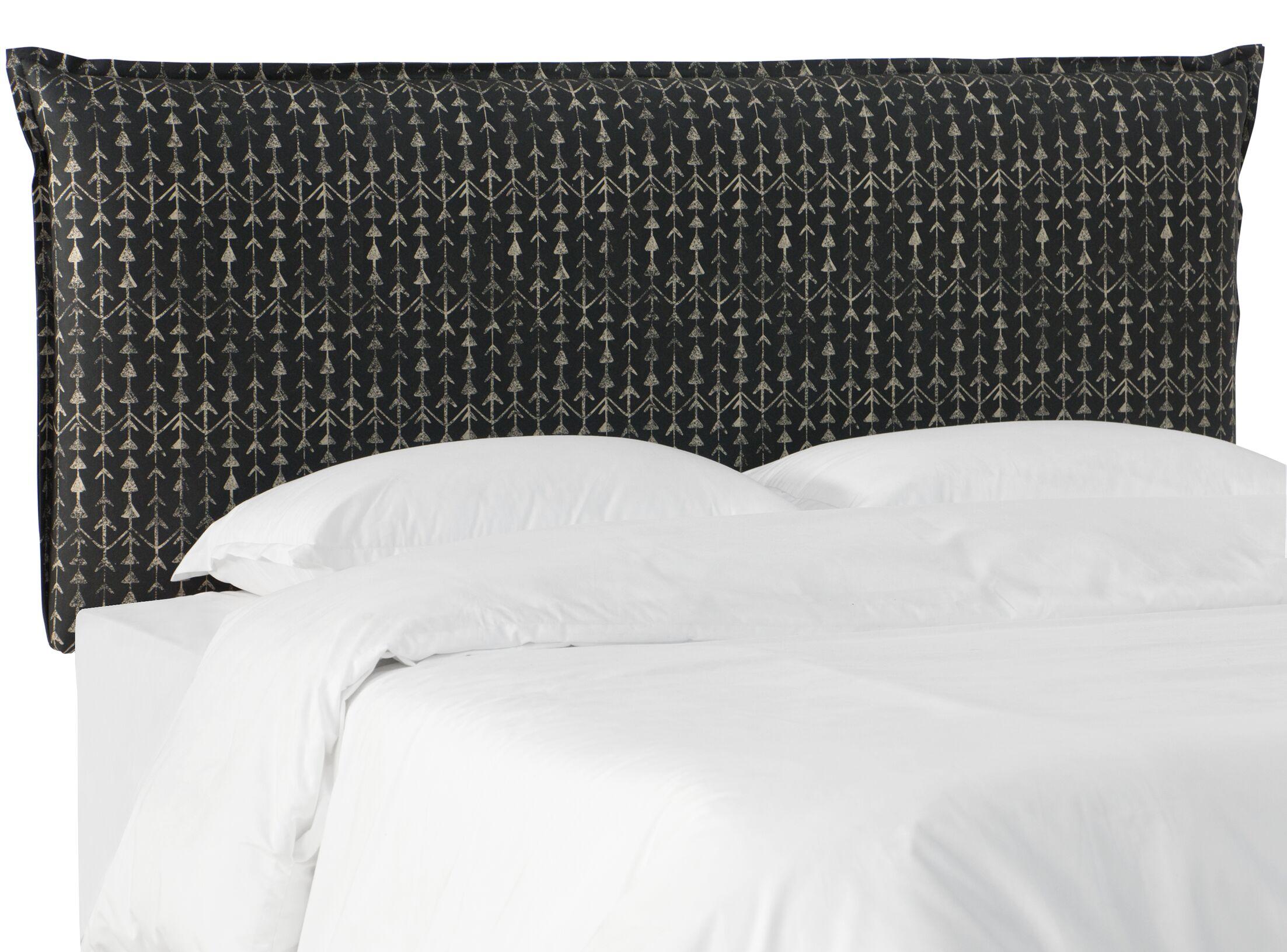 Woodlake Upholstered Panel Headboard in Arrow Stripe Ink Size: King