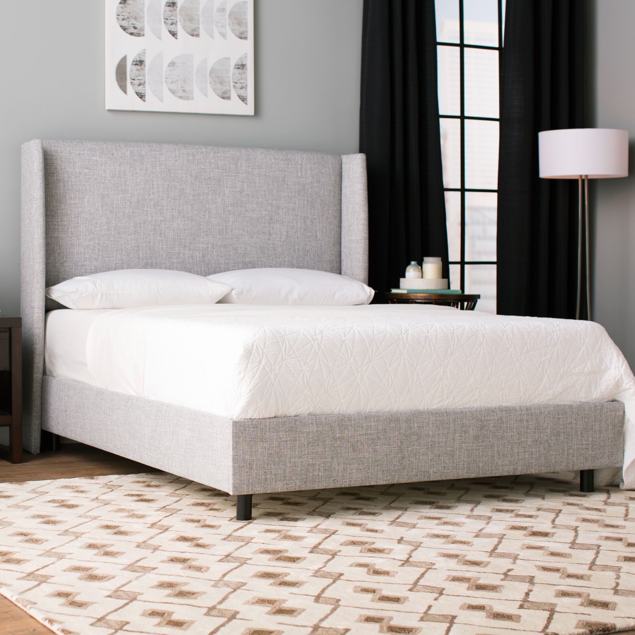 Alrai Upholstered Panel Bed Size: Full, Color: Zuma Pumice