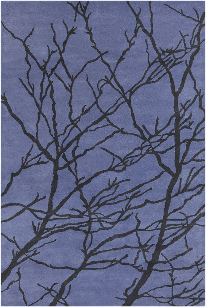 Oritz Hand Tufted Wool Blue/Black Area Rug Rug Size: 8' x 10'