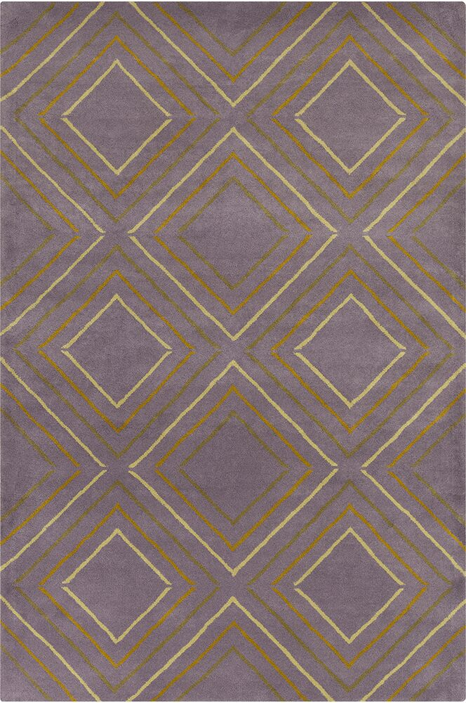 Oritz Hand Tufted Wool Purple/Yellow Area Rug Rug Size: 5' x 7'6