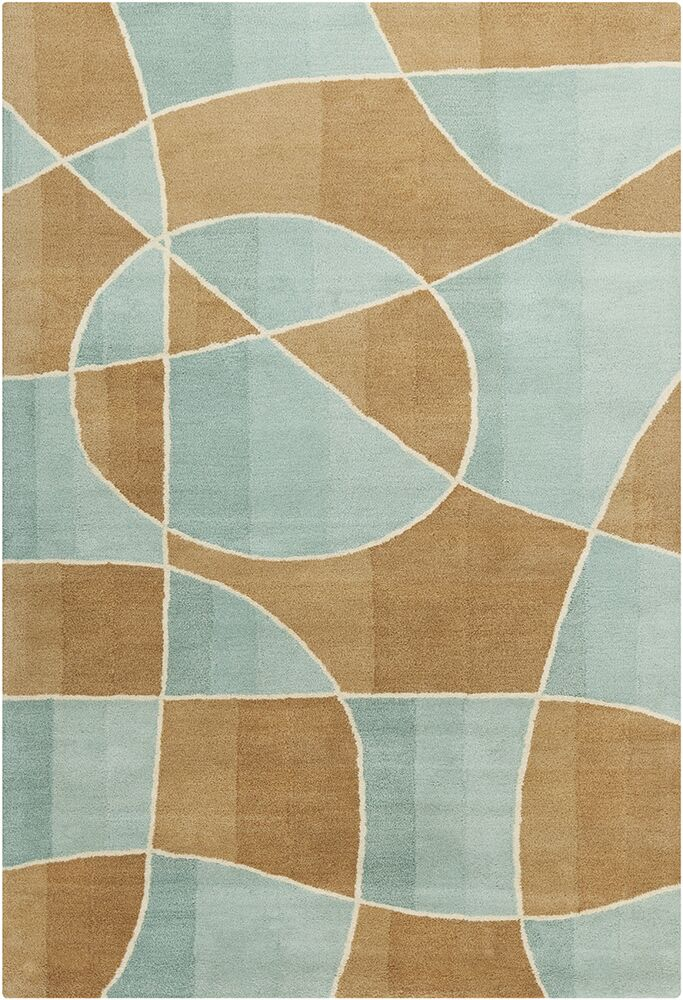 Oritz Hand Tufted Wool Brown/Blue Area Rug Rug Size: 8' x 10'