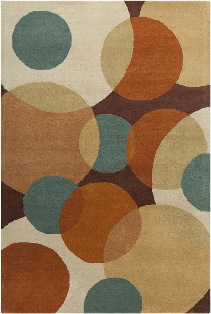 Oritz Hand Tufted Wool Dark Area Rug Rug Size: 5' x 7'6