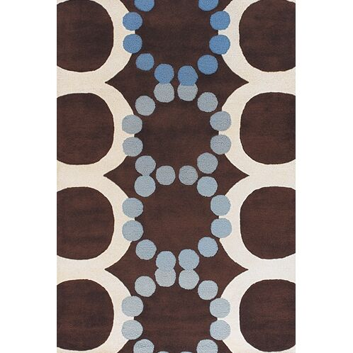 Osteen Brown/White Area Rug Rug Size: Rectangle 3'6