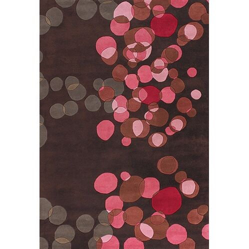 Osteen Brown/Pink Area Rug Rug Size: Rectangle 2' x 3'